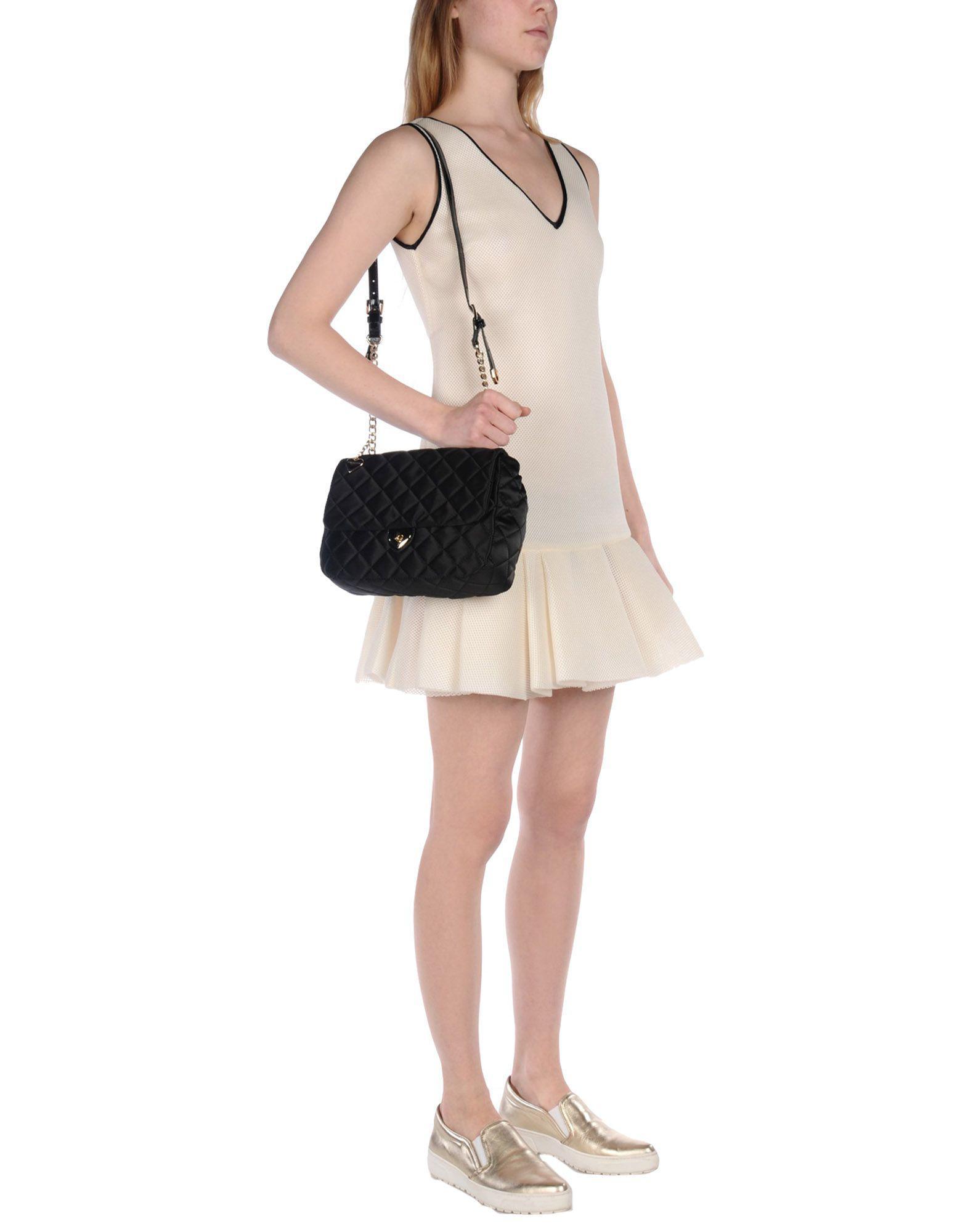 Tosca Blu Satin Cross-body Bag in Black