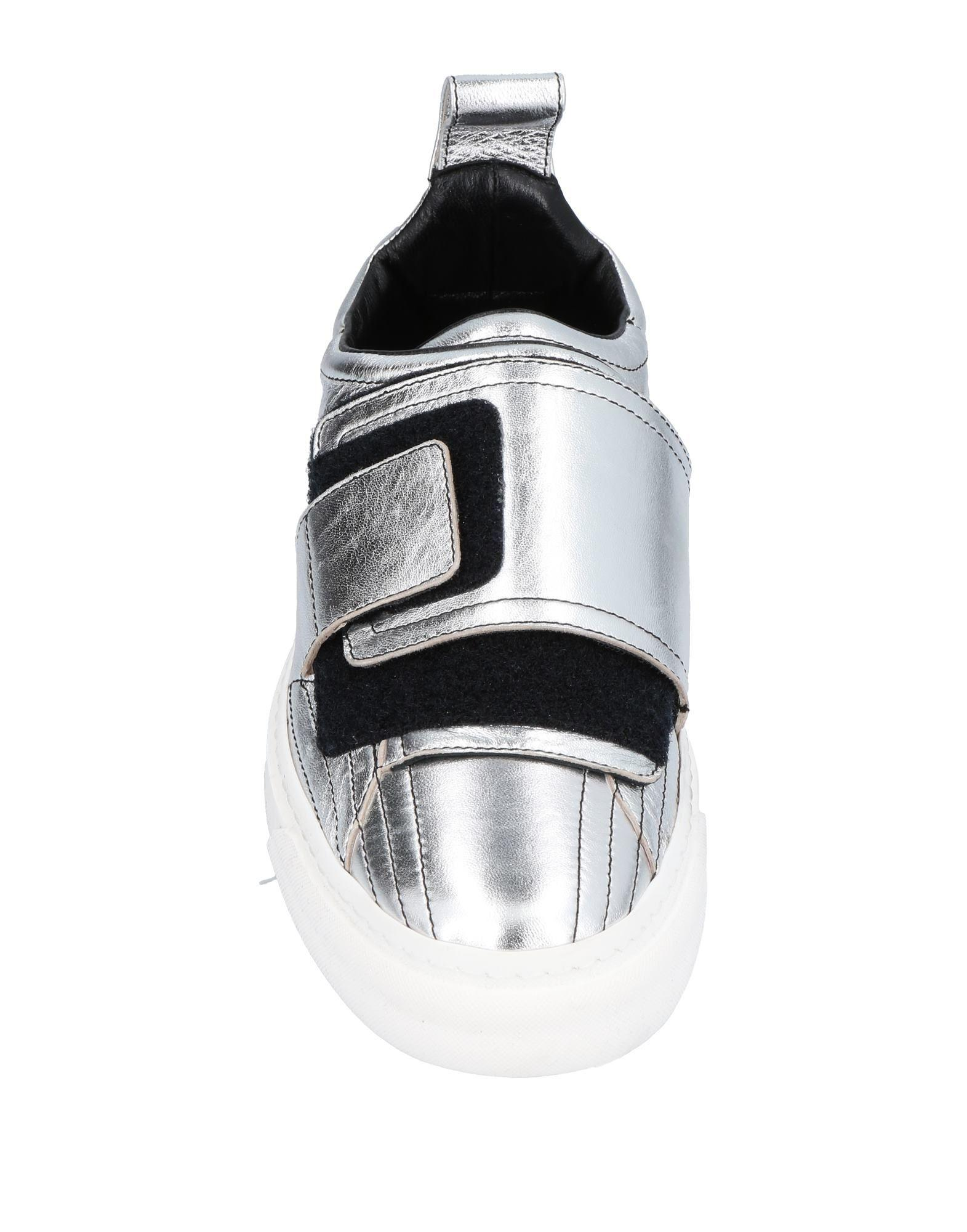 Paco Rabanne Leather Low-tops & Sneakers in Silver (Metallic)