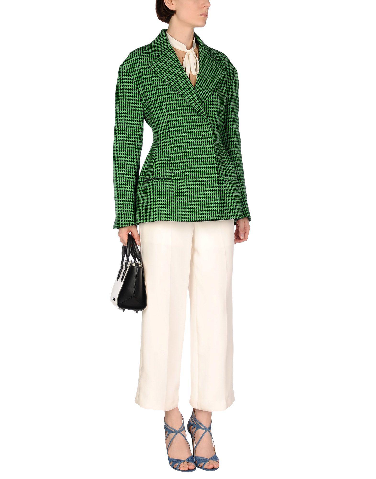 Celine Cotton Blazers in Green
