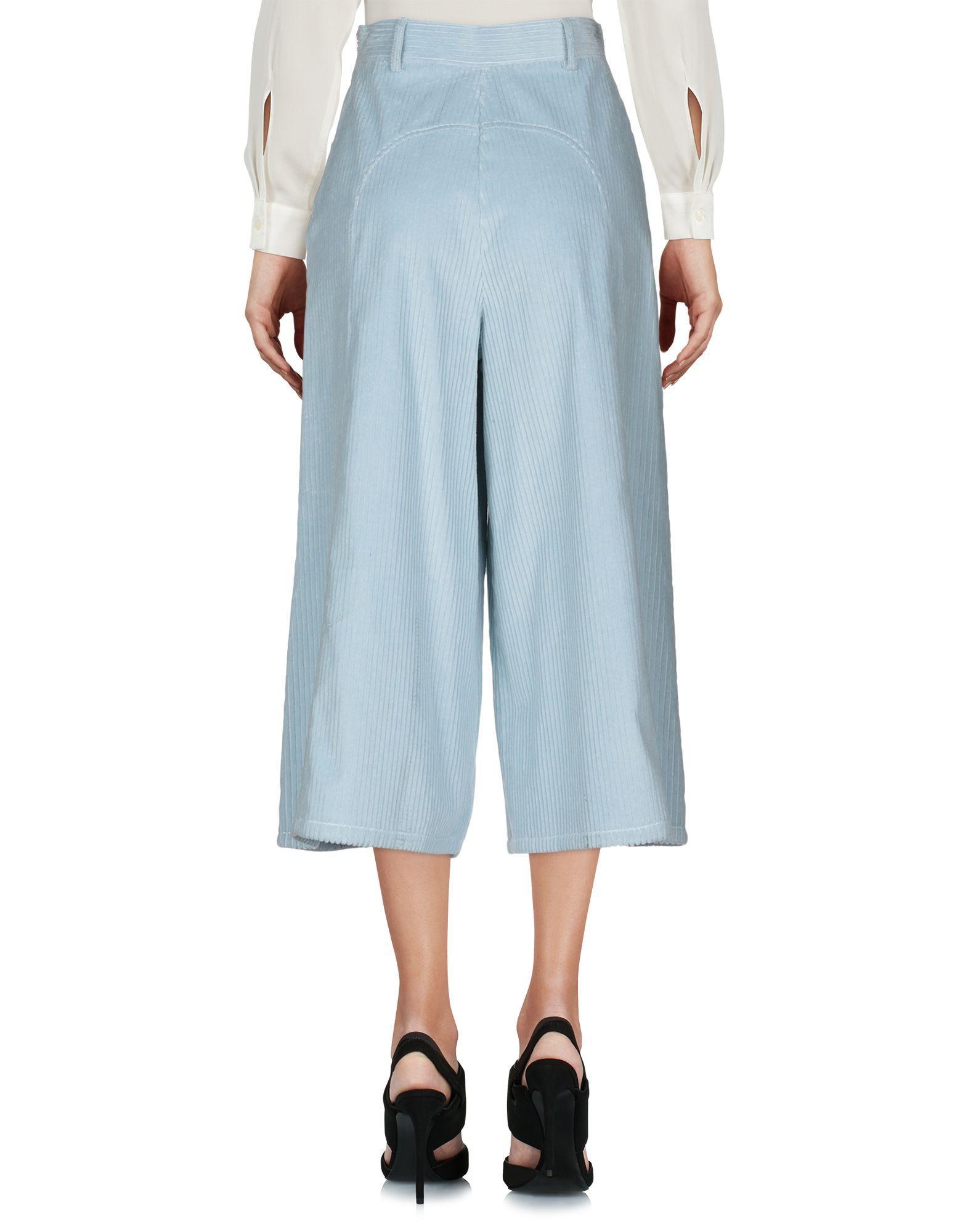 Pantalones piratas See By Chloé de Terciopelo de color Azul