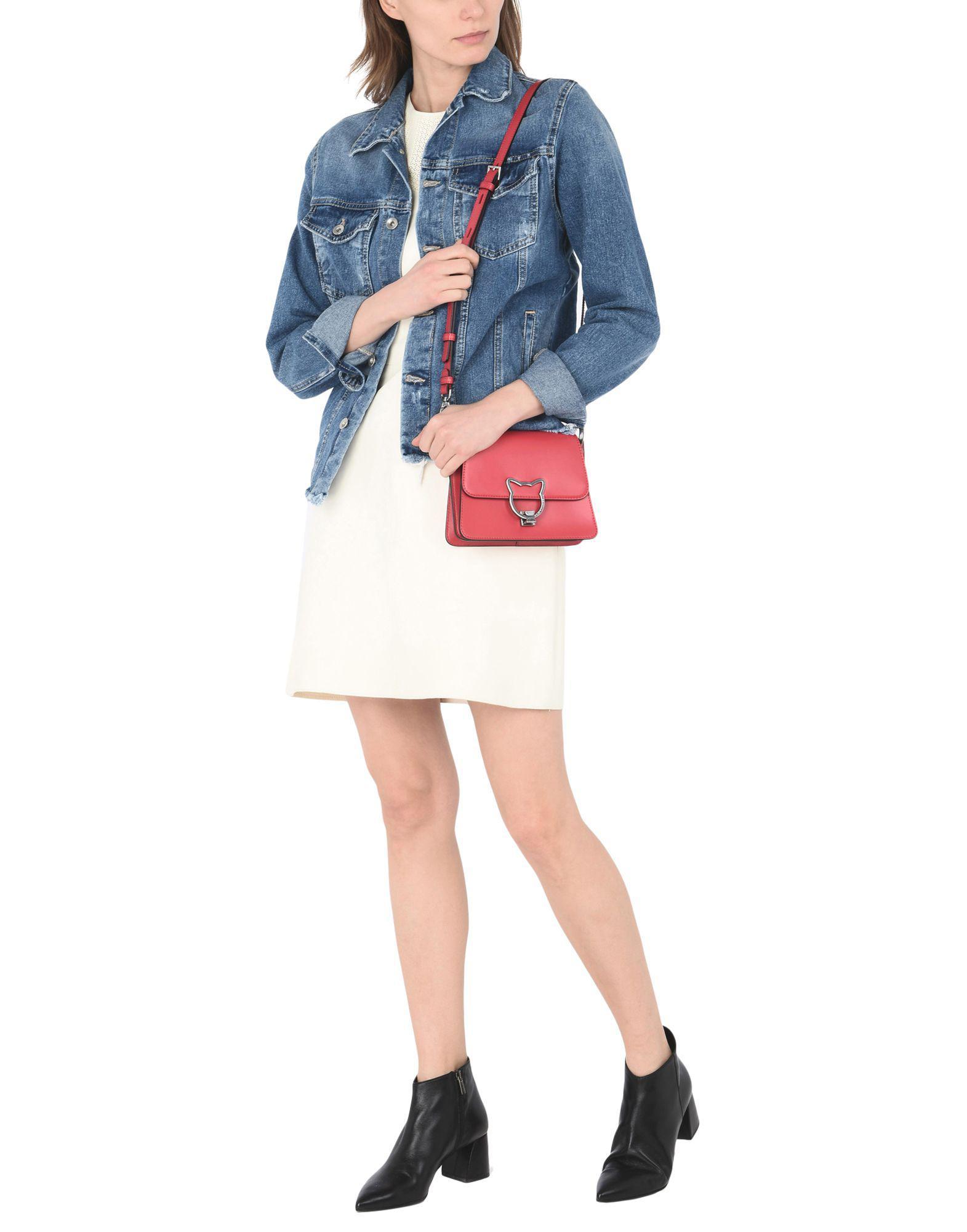 Karl Lagerfeld Leather Cross-body Bag in Garnet (Pink)