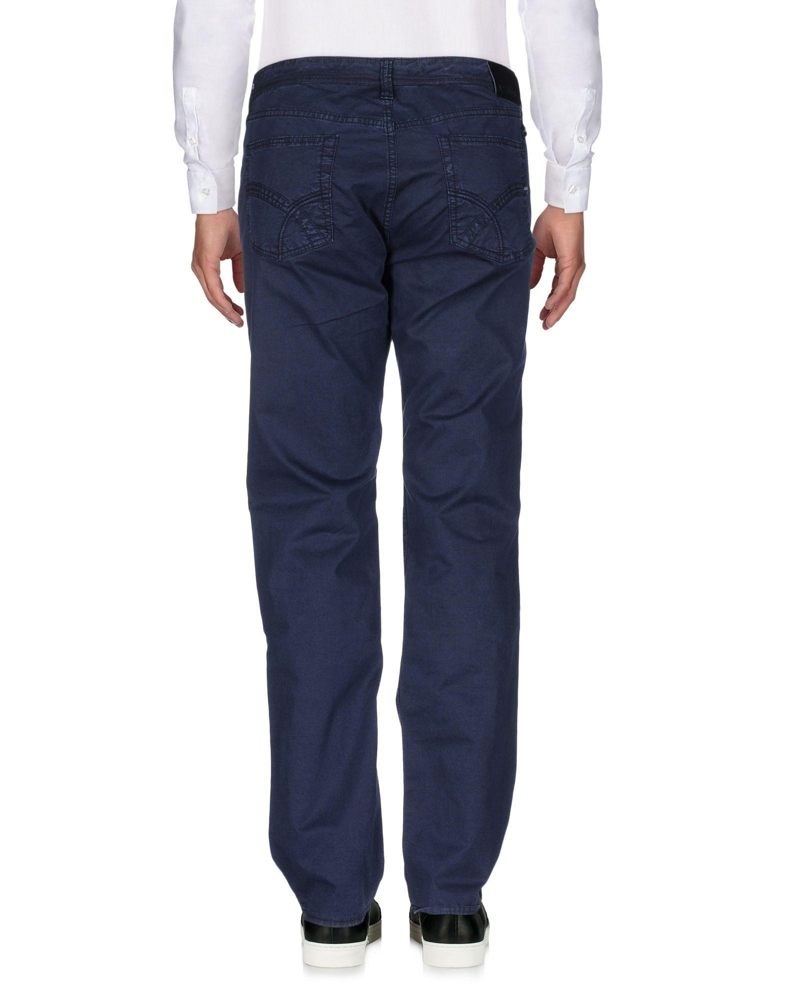 Gas Leather Casual Trouser in Dark Blue (Blue) for Men