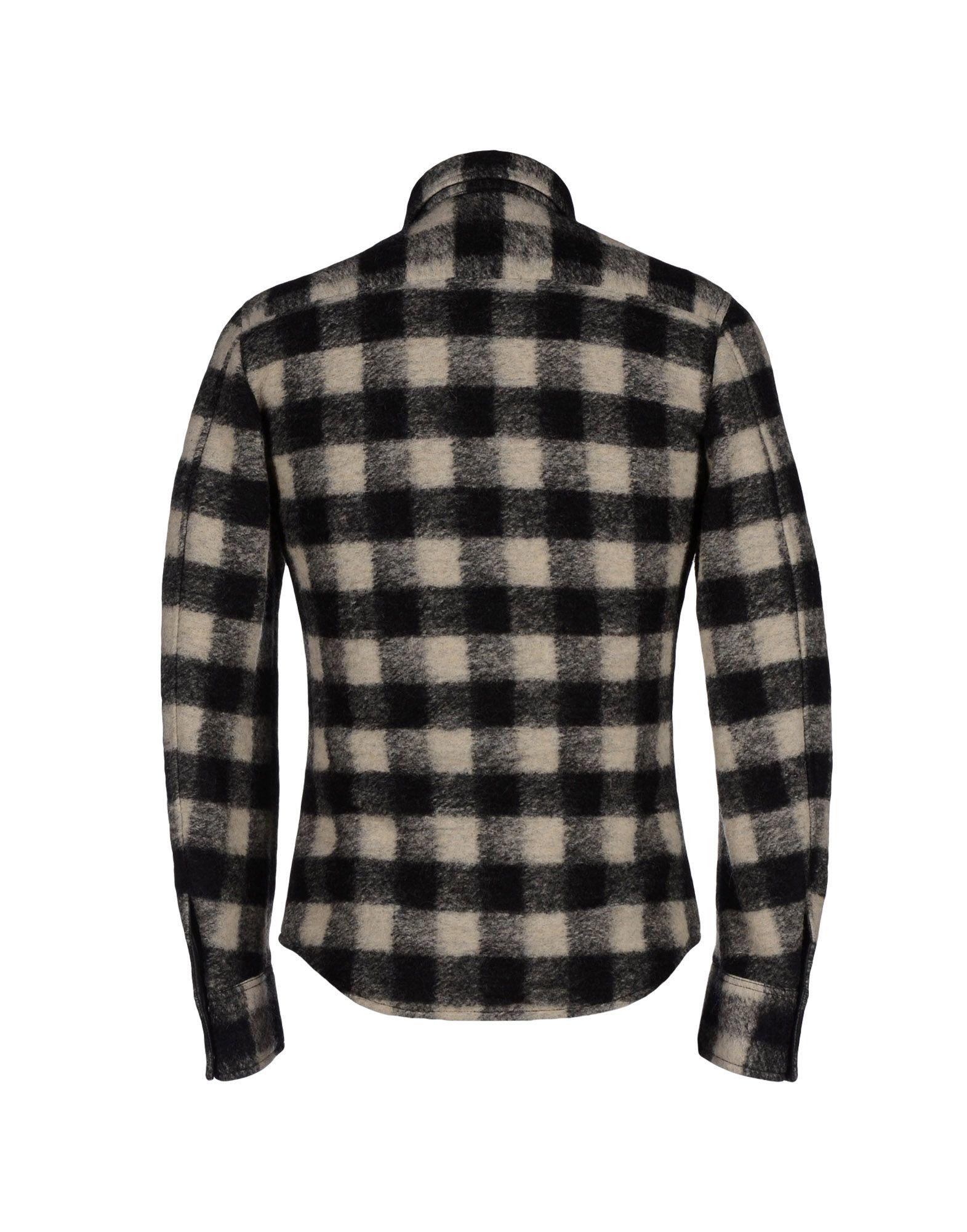 Dolce & Gabbana Reversible Tartan Wool Shirt Jacket in Ivory (Black) for Men