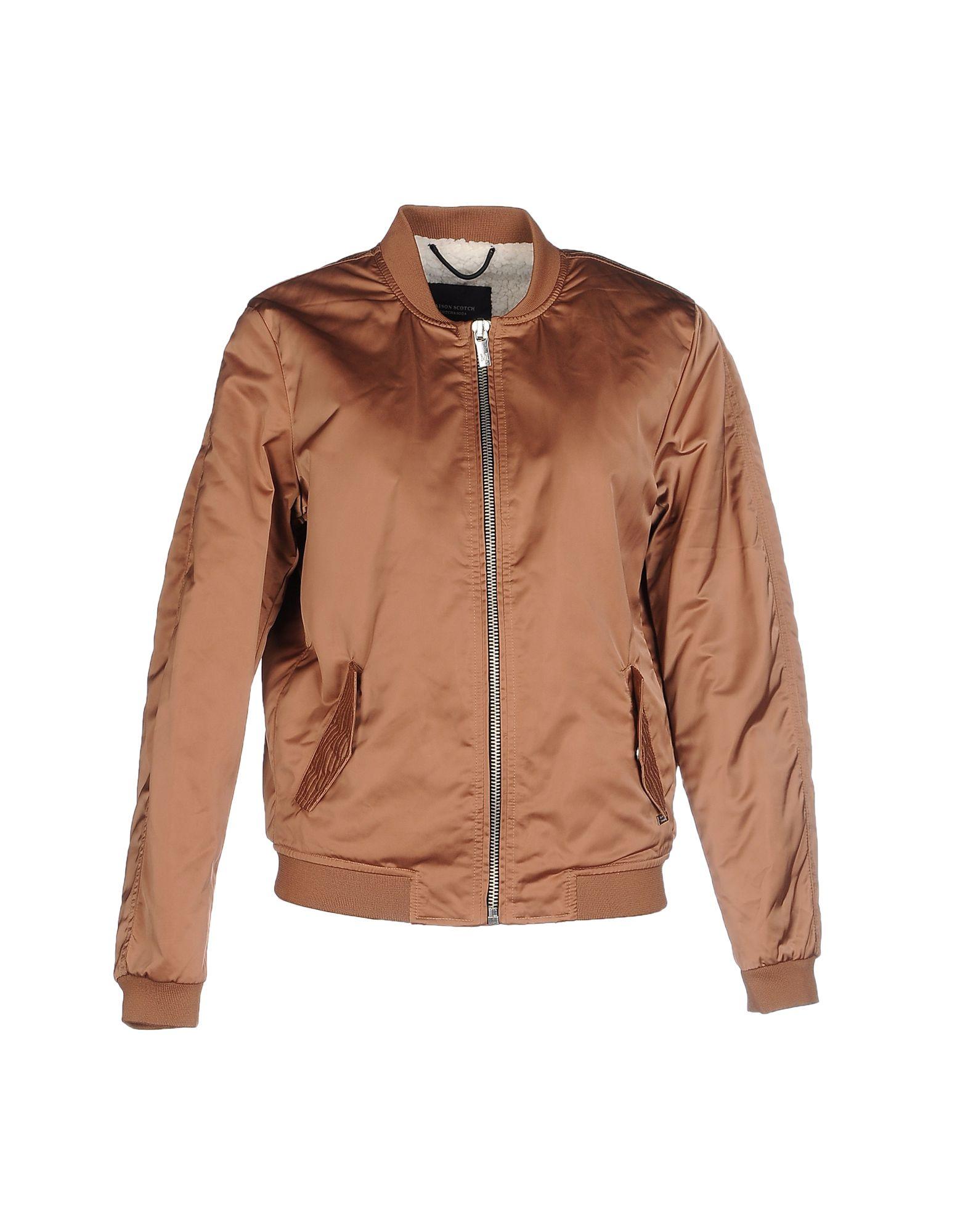 maison scotch jacket in brown save 16 lyst. Black Bedroom Furniture Sets. Home Design Ideas