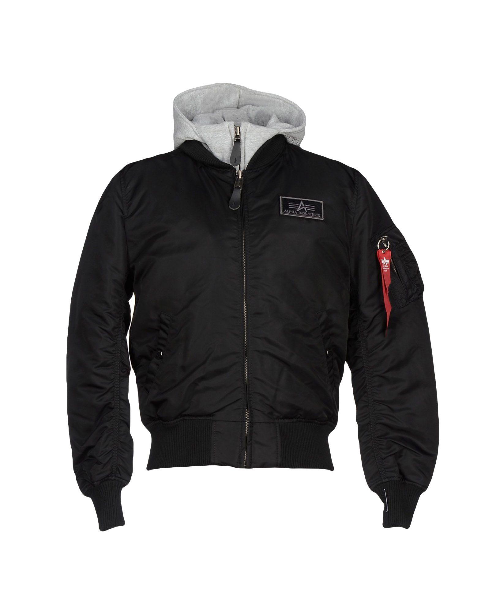 alpha industries jacket in black for men lyst. Black Bedroom Furniture Sets. Home Design Ideas