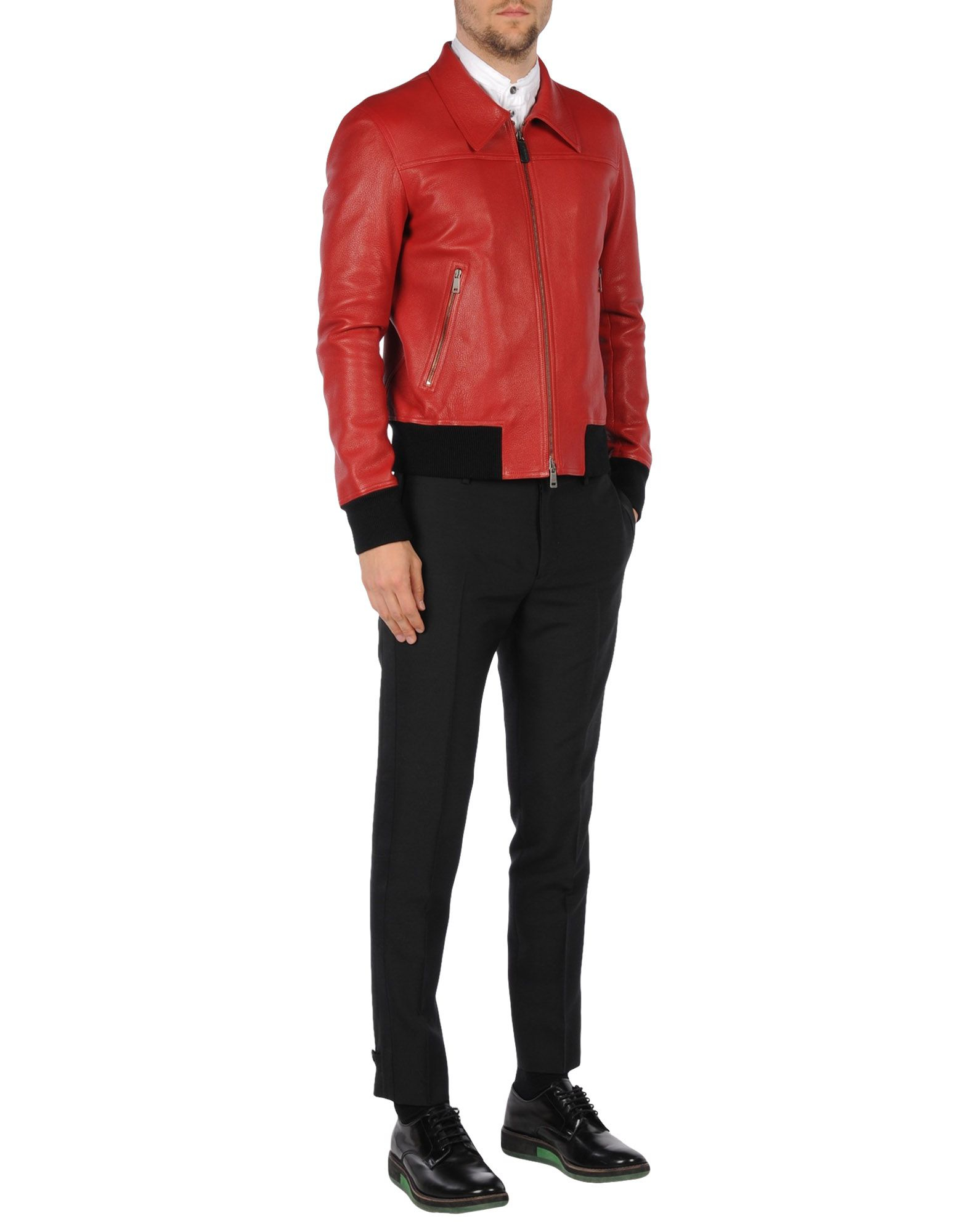 lyst jil sander jacket in red for men. Black Bedroom Furniture Sets. Home Design Ideas