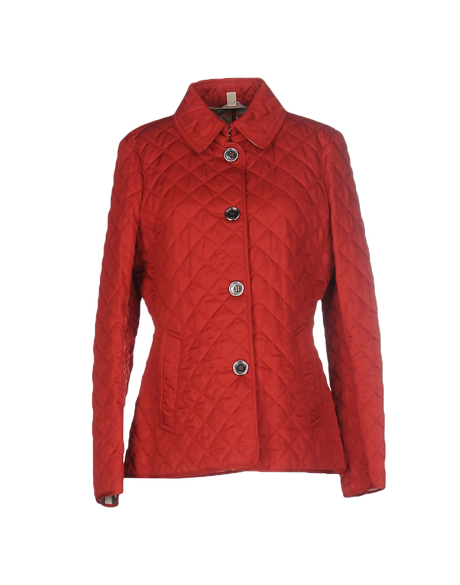 burberry brit jacket in red lyst. Black Bedroom Furniture Sets. Home Design Ideas
