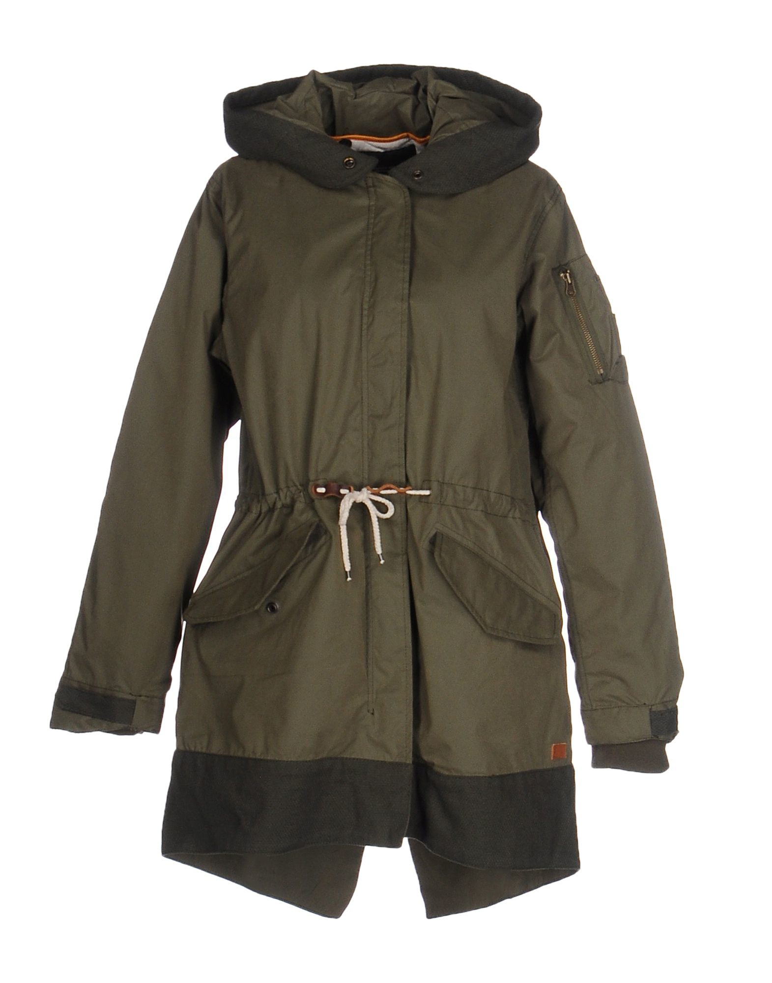 maison scotch jacket in natural military green lyst. Black Bedroom Furniture Sets. Home Design Ideas