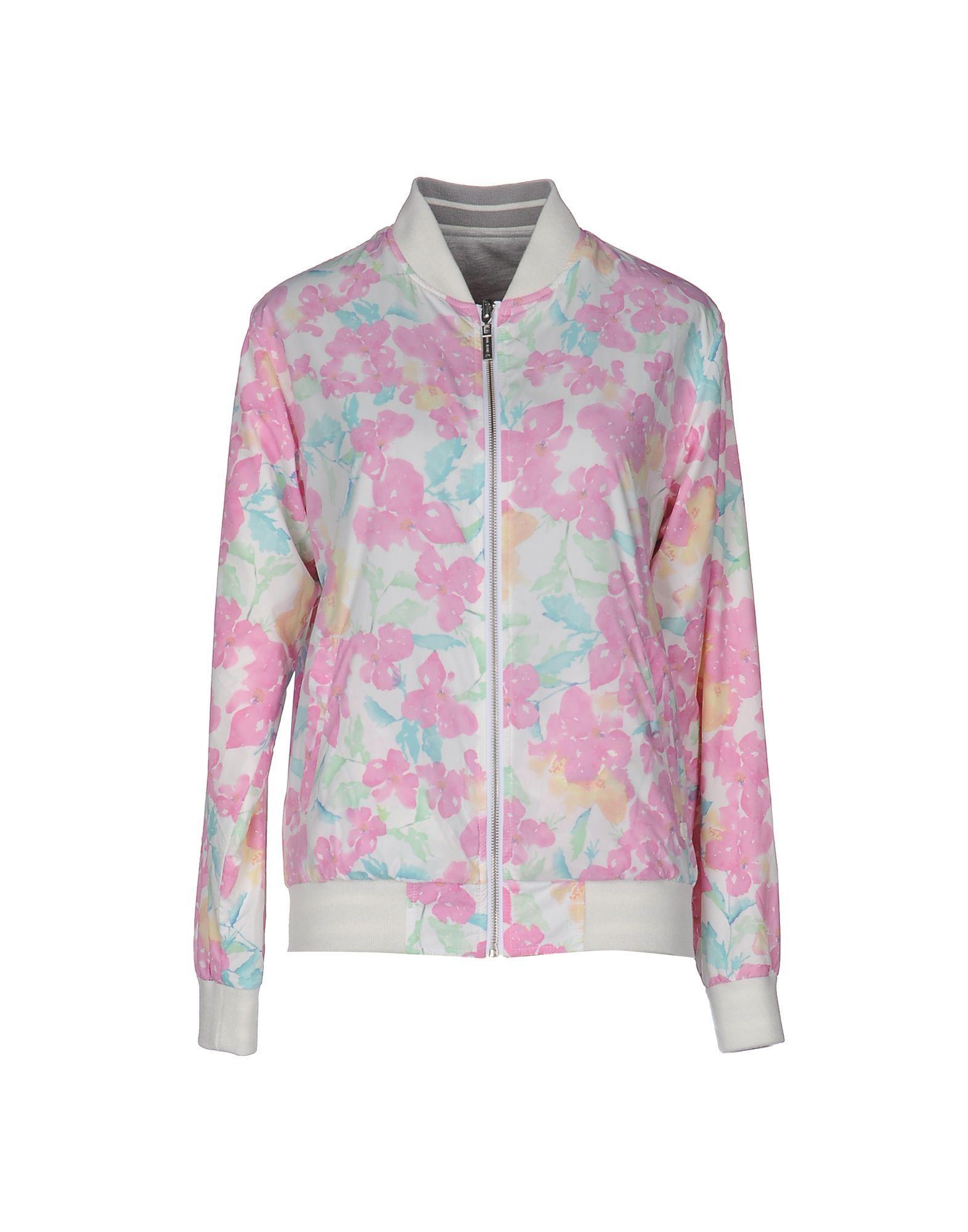 lyst pepe jeans jacket in pink. Black Bedroom Furniture Sets. Home Design Ideas