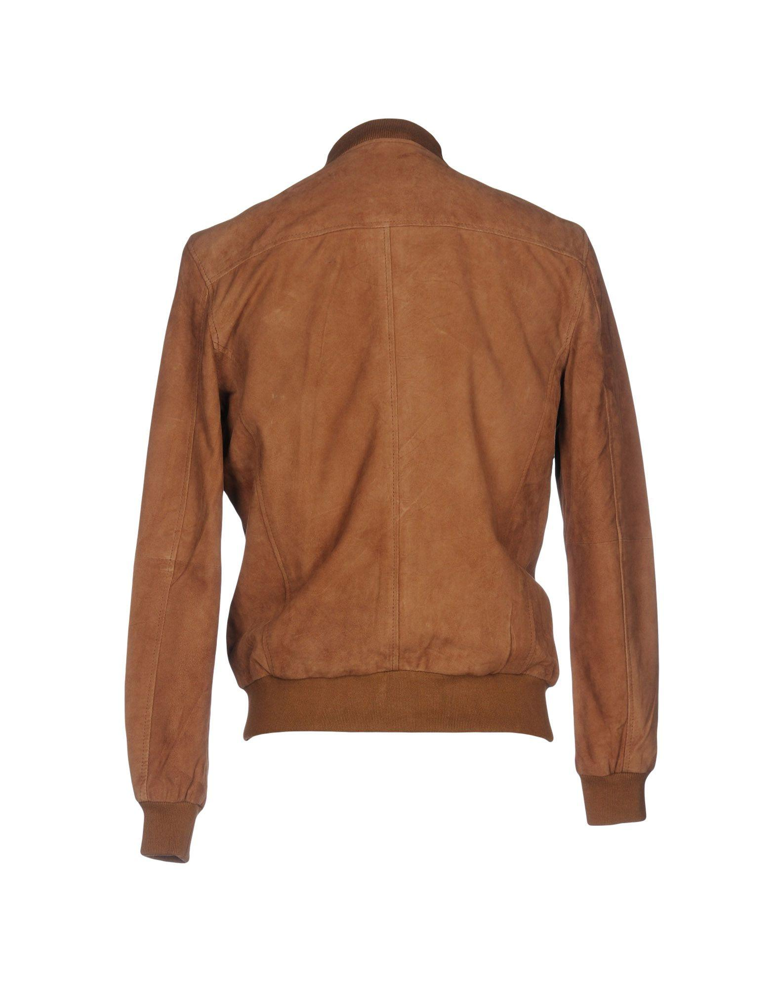 Originals By Jack & Jones Leather Jacket in Camel (Brown) for Men