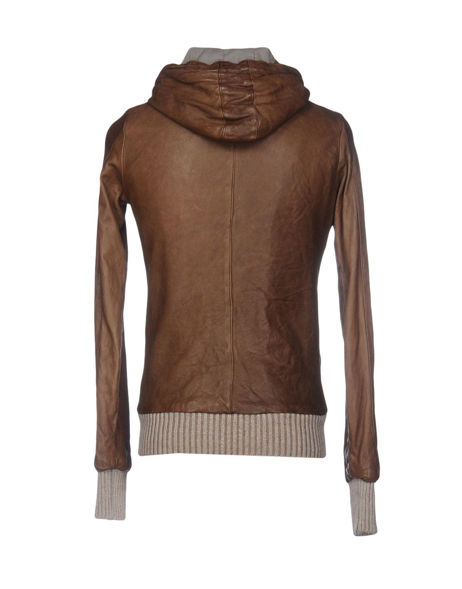 Giorgio Brato Leather Jacket in Khaki (Brown) for Men