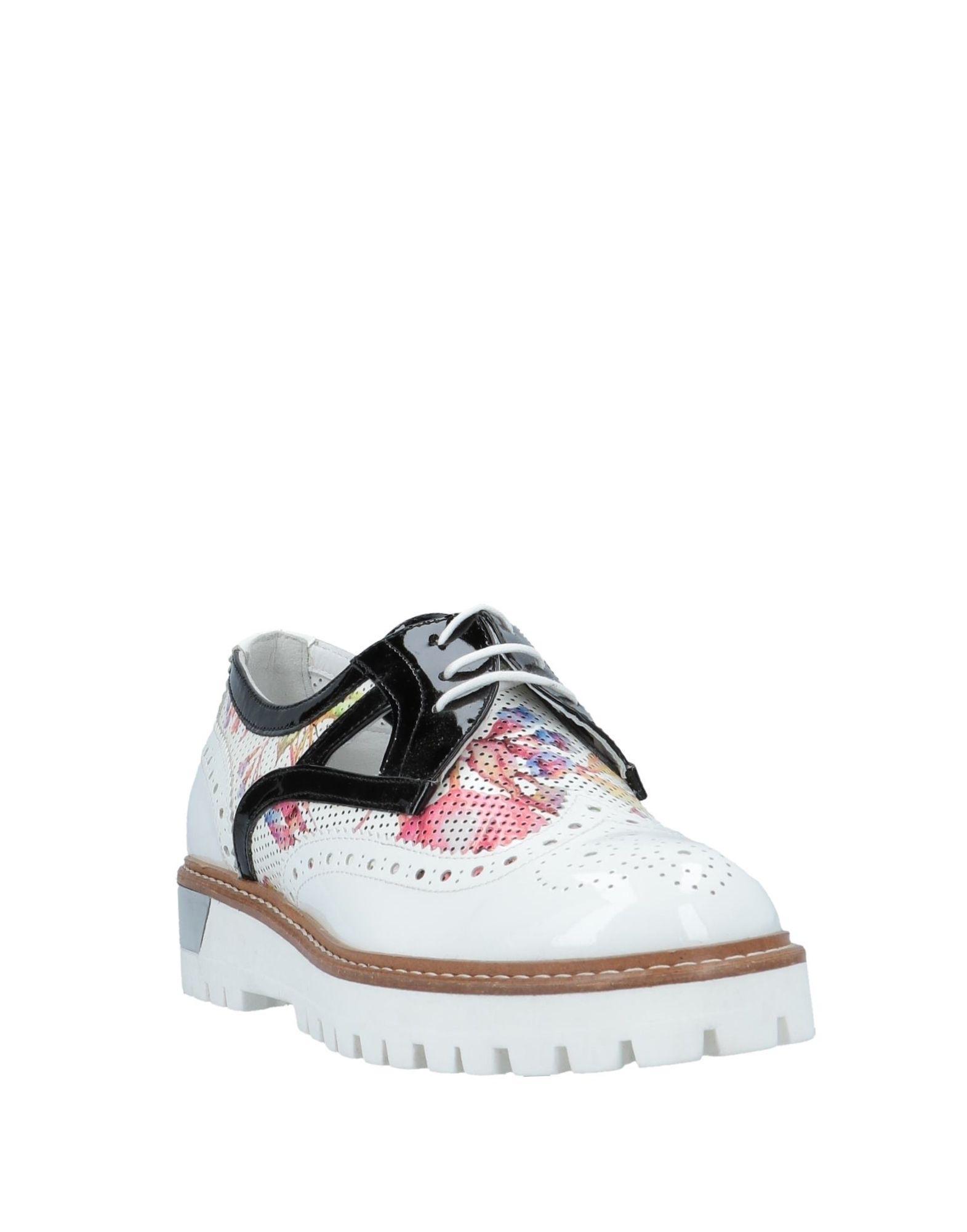 Zapatos de cordones Loretta Pettinari de Cuero de color Blanco
