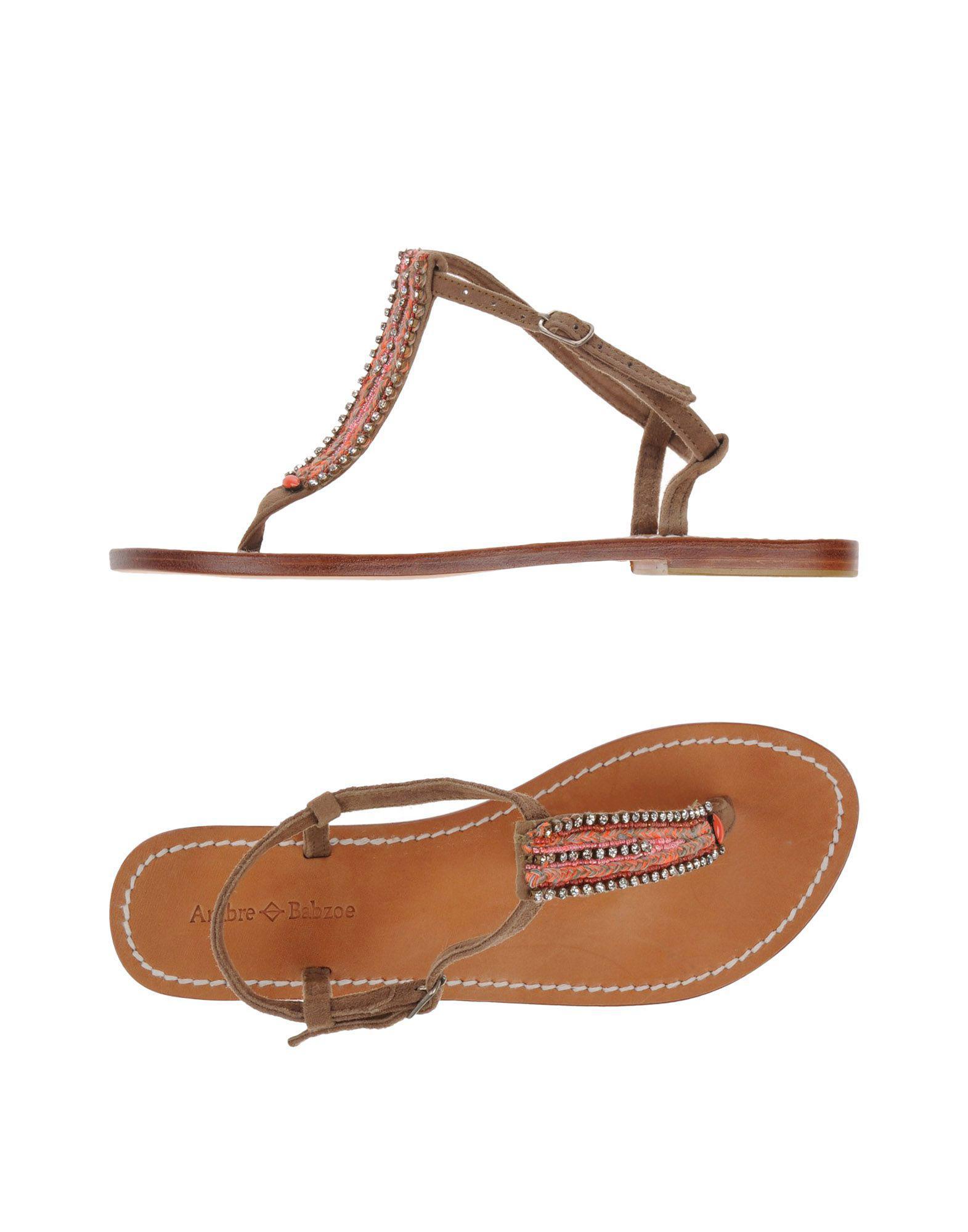 Chaussures - Sandales Entredoigt De Babzoe Ambre gEDN06K