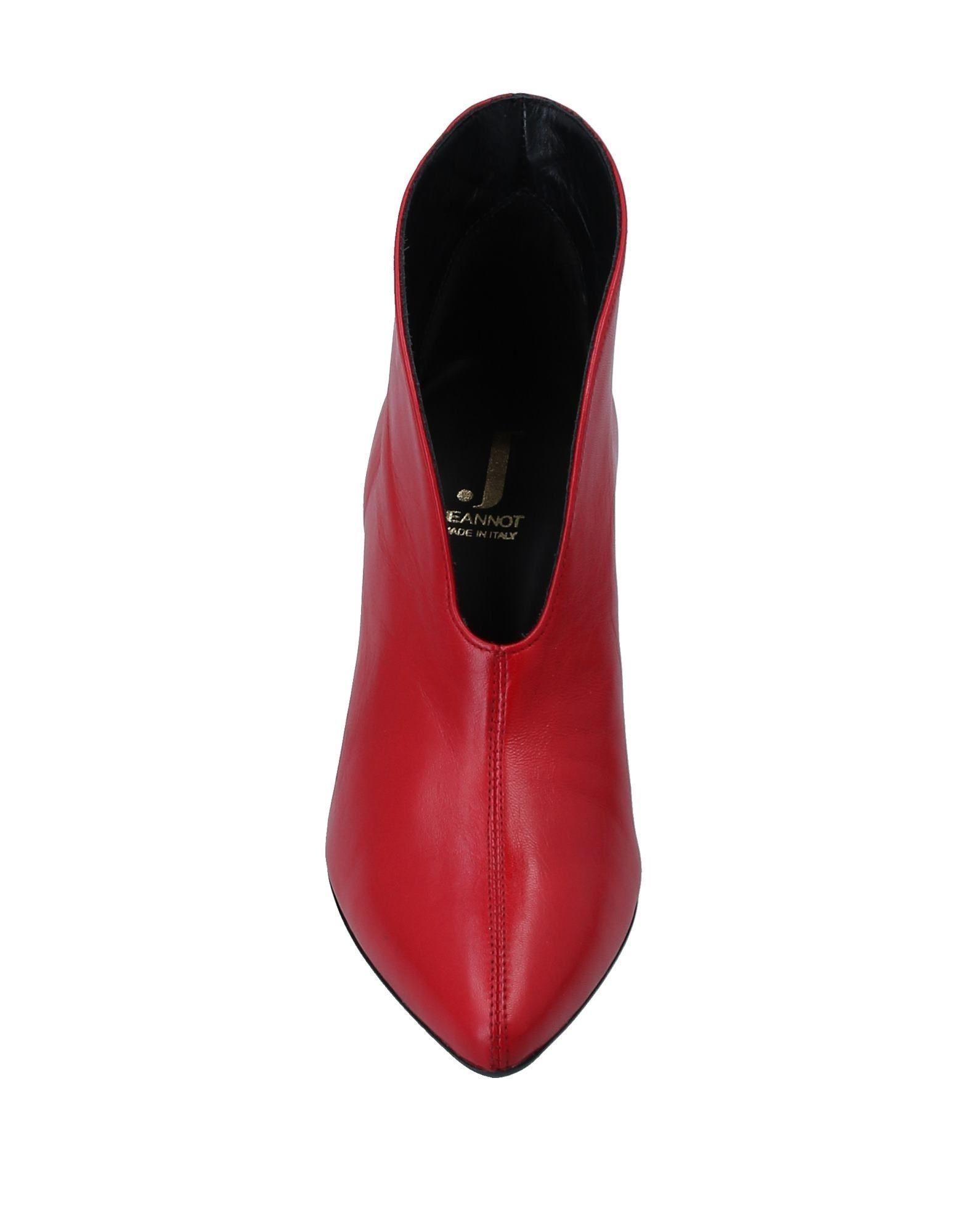 Botines de caña alta Jeannot de Cuero de color Rojo