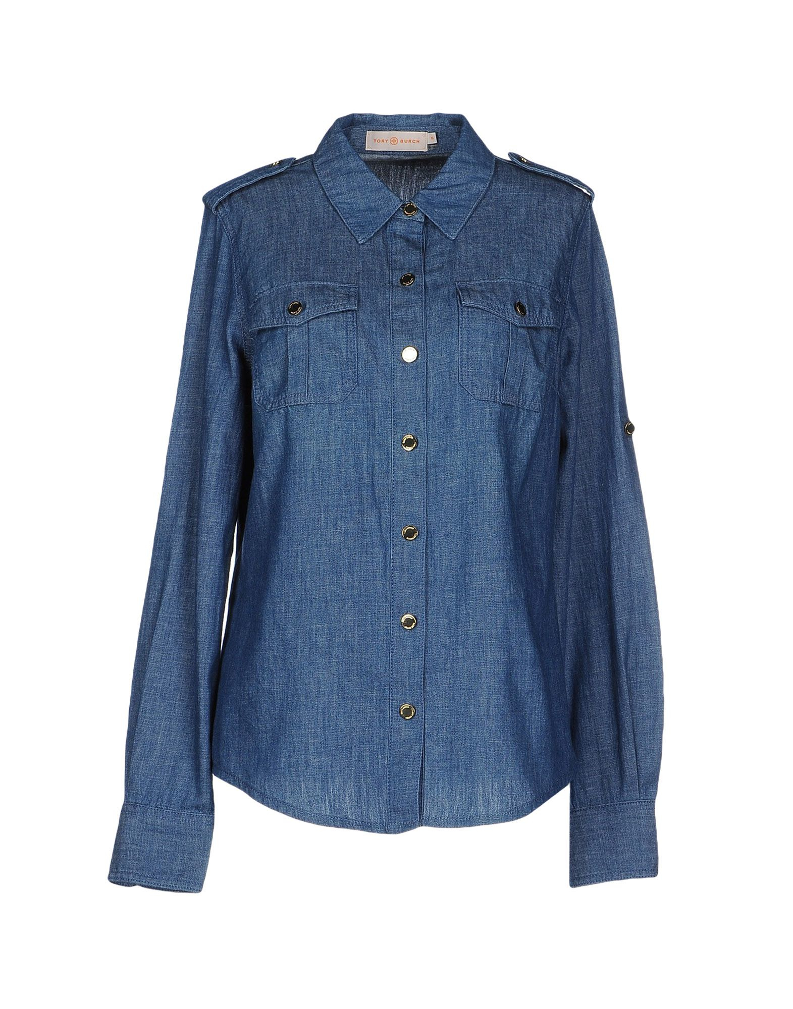 Lyst Tory Burch Denim Shirt In Blue
