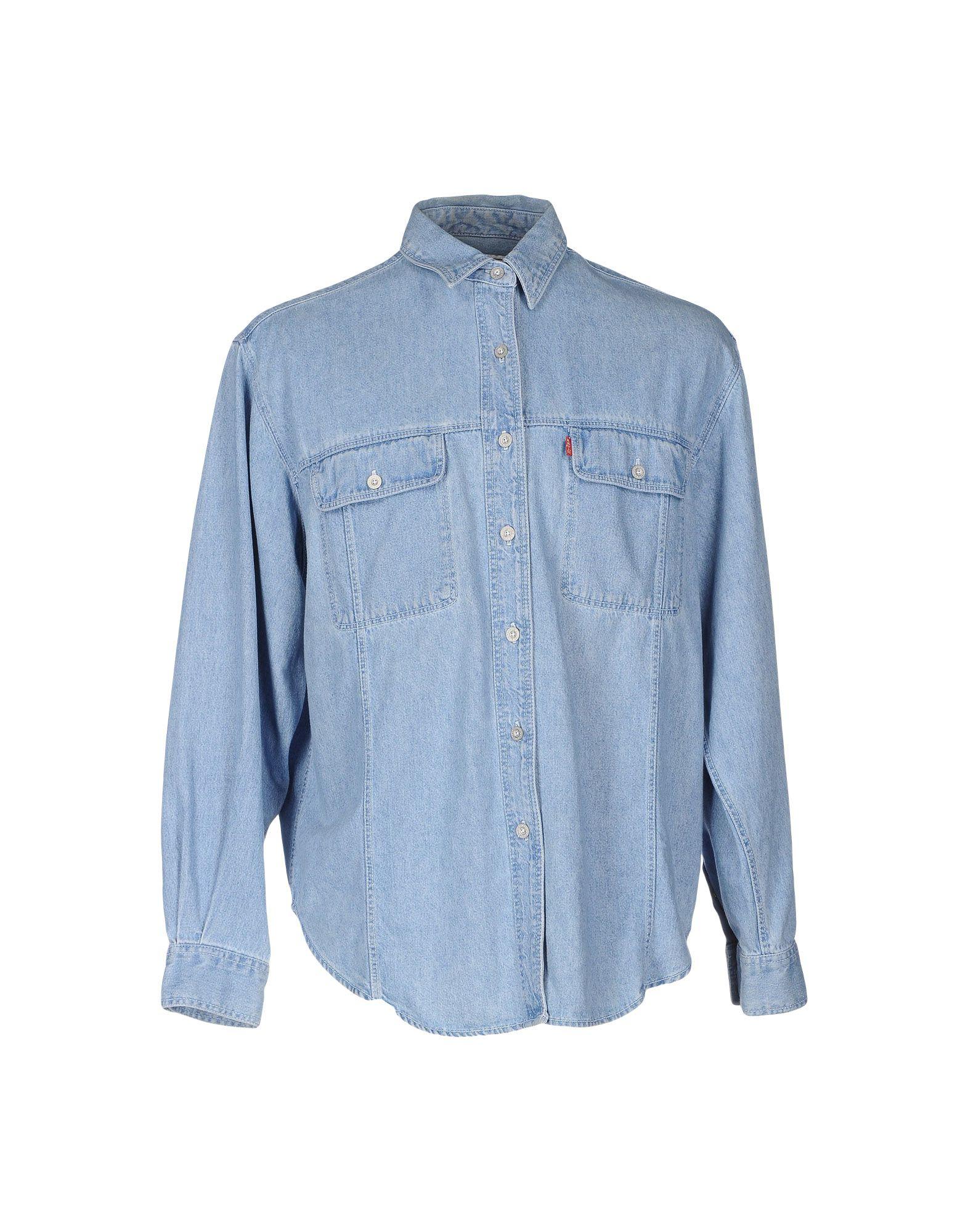 lyst levi 39 s denim shirt in blue for men. Black Bedroom Furniture Sets. Home Design Ideas