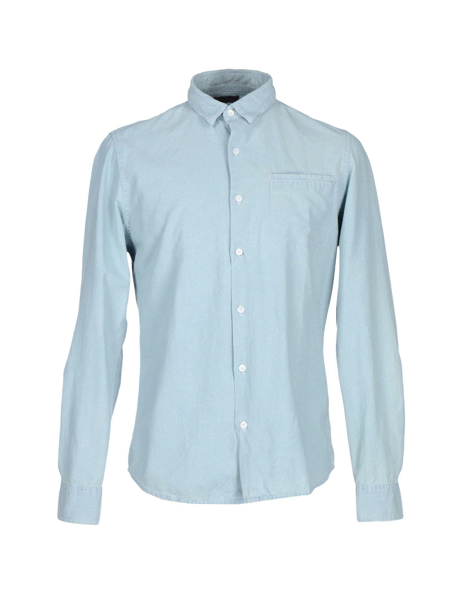 calvin klein jeans denim shirt in blue save 16 lyst. Black Bedroom Furniture Sets. Home Design Ideas