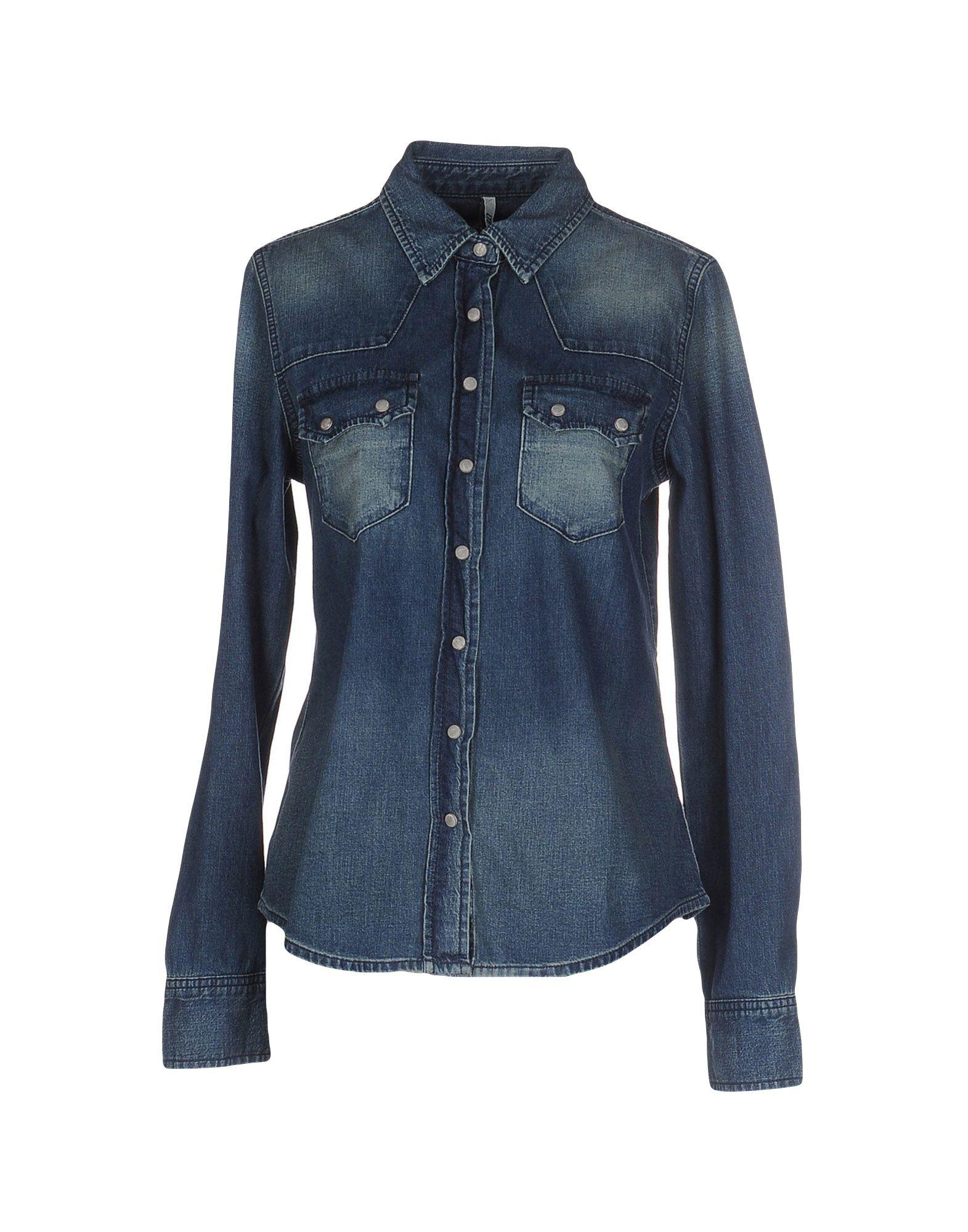 lyst ltb denim shirt in blue. Black Bedroom Furniture Sets. Home Design Ideas