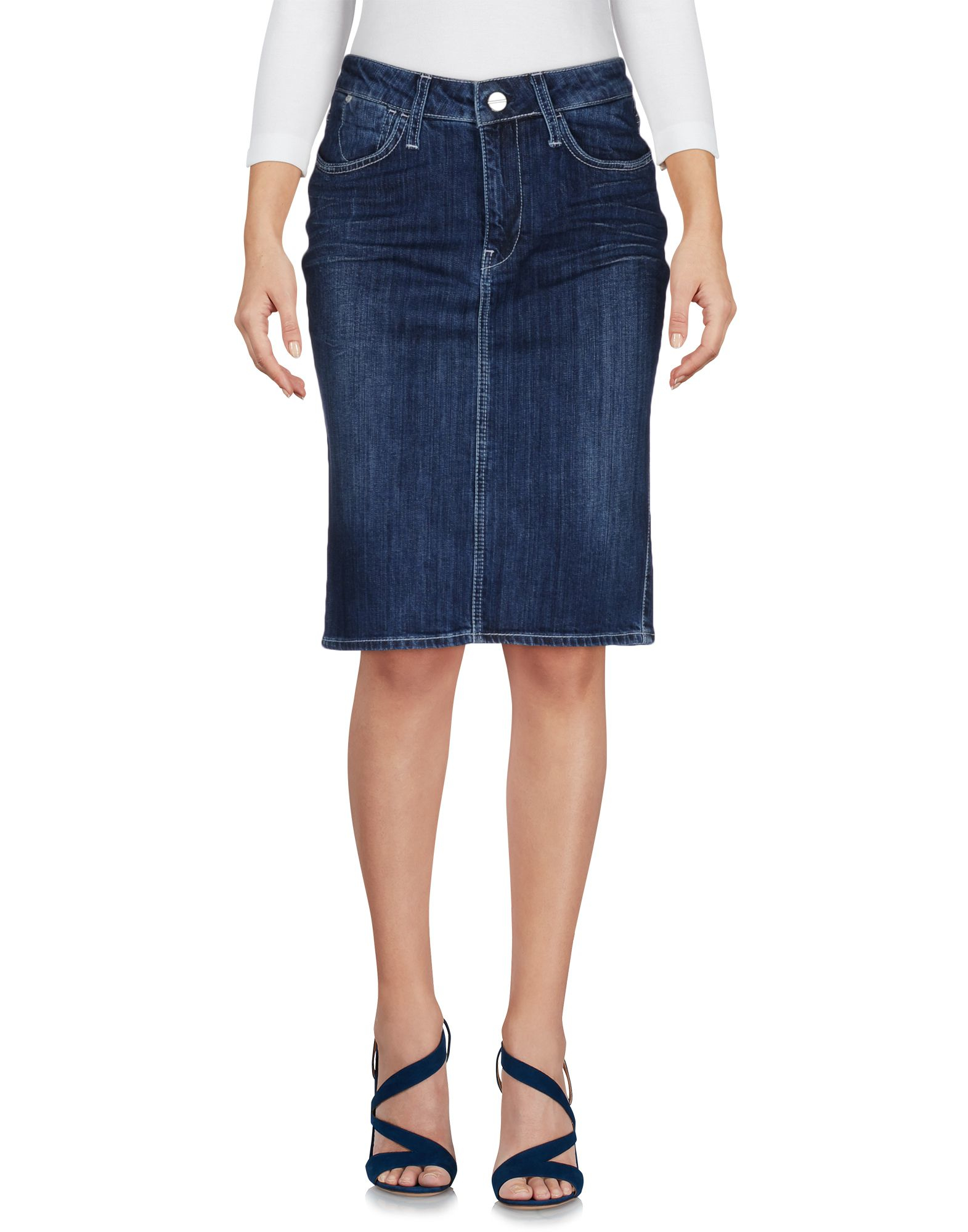 guess denim skirt in blue lyst