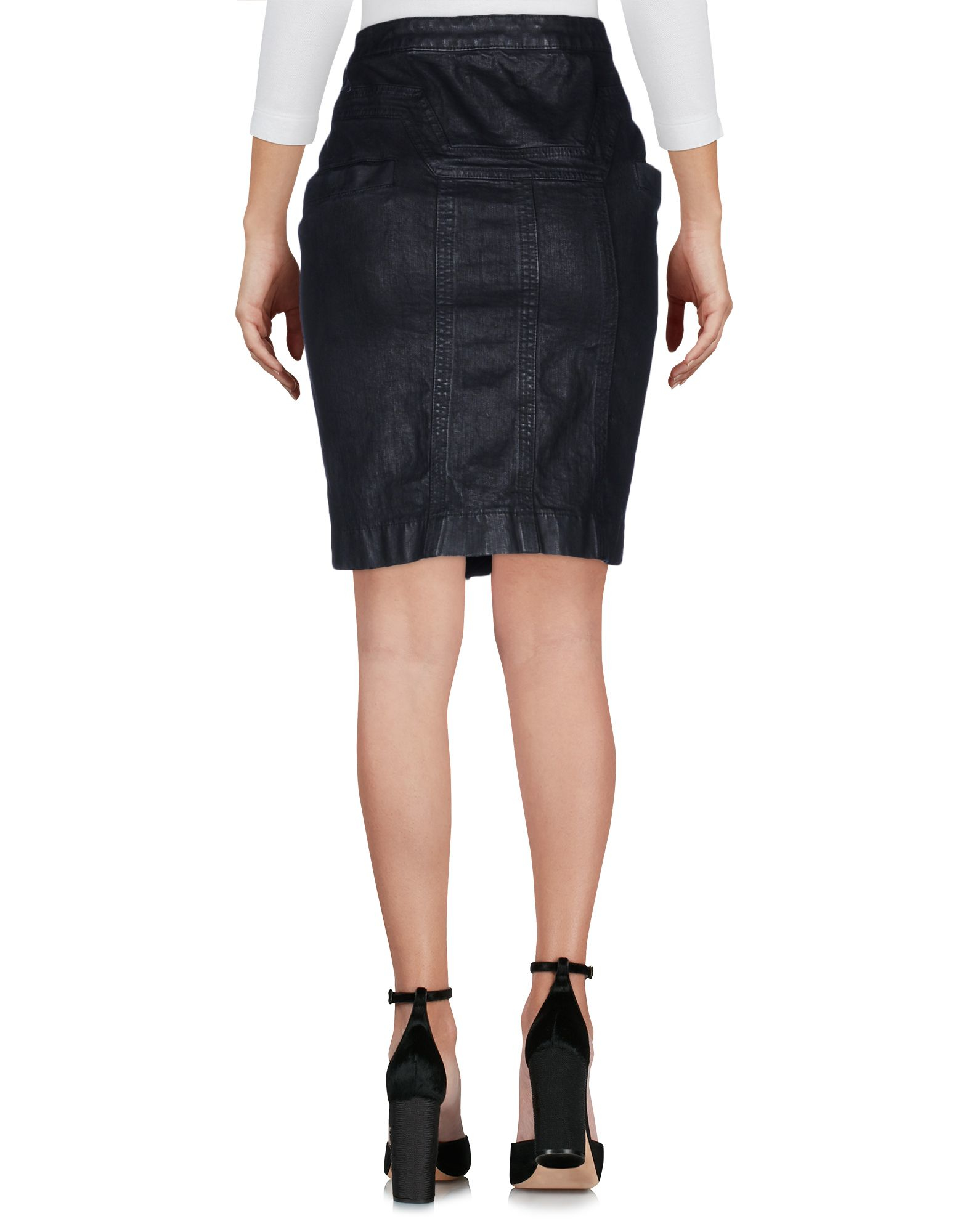 just cavalli denim skirt in black lyst