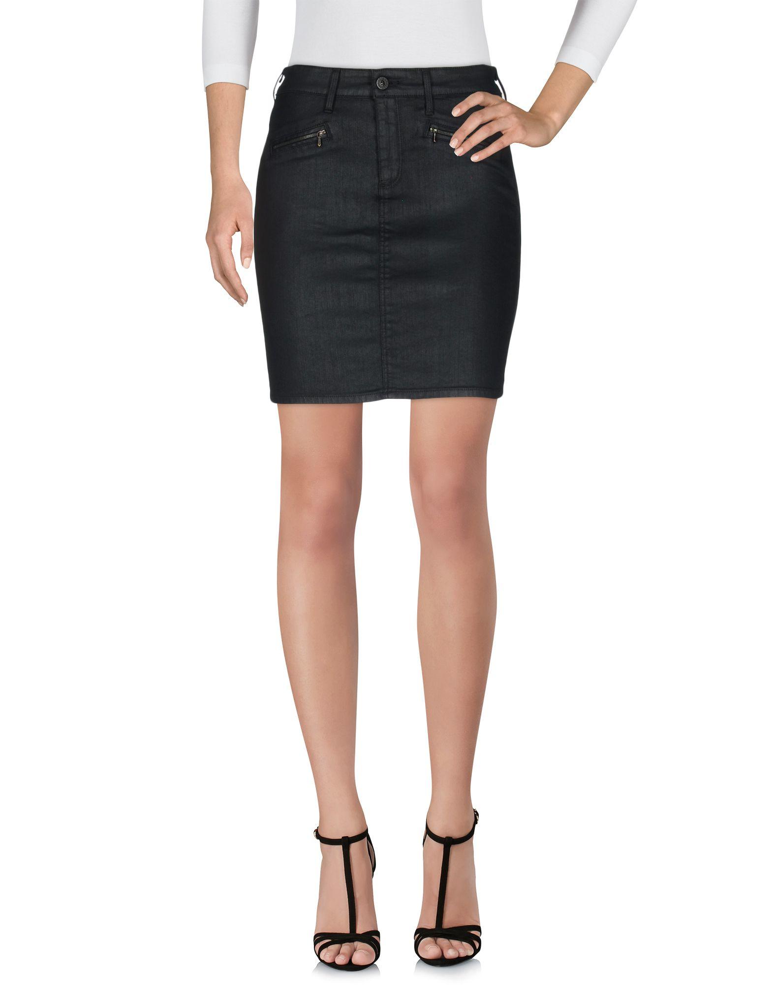 ag denim skirt in black lyst