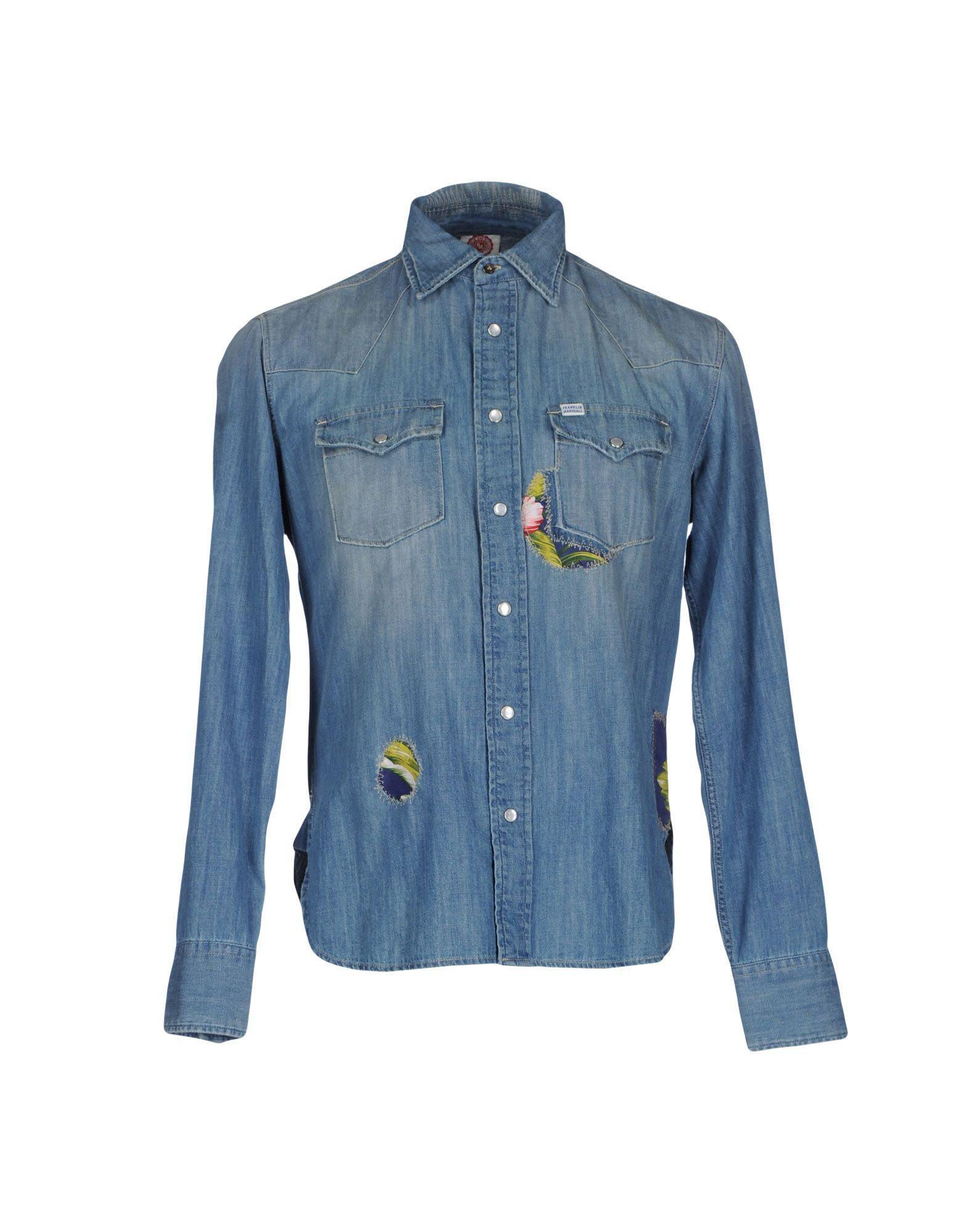 Lyst Franklin Marshall Denim Shirt In Blue For Men