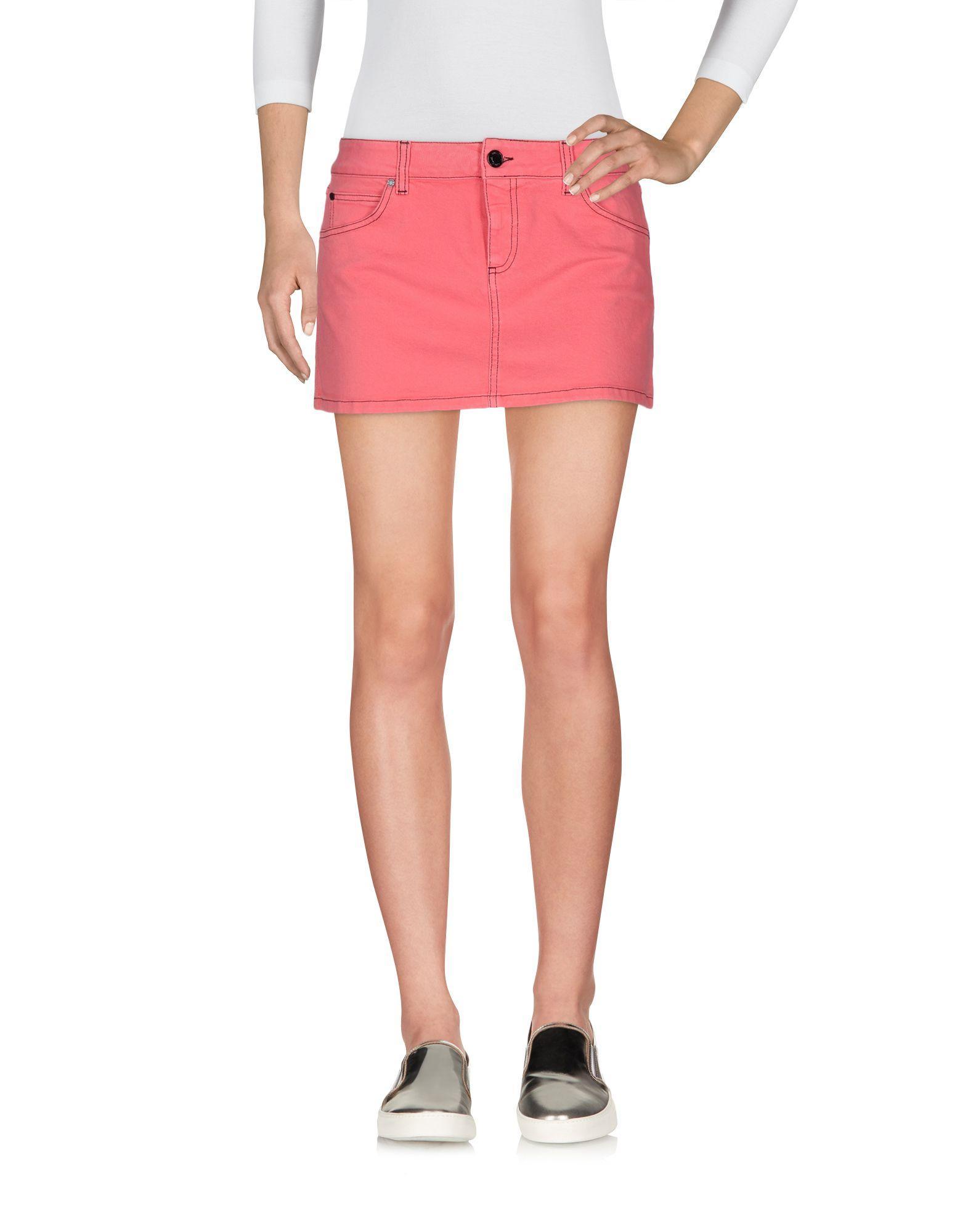 gucci denim skirt in pink lyst