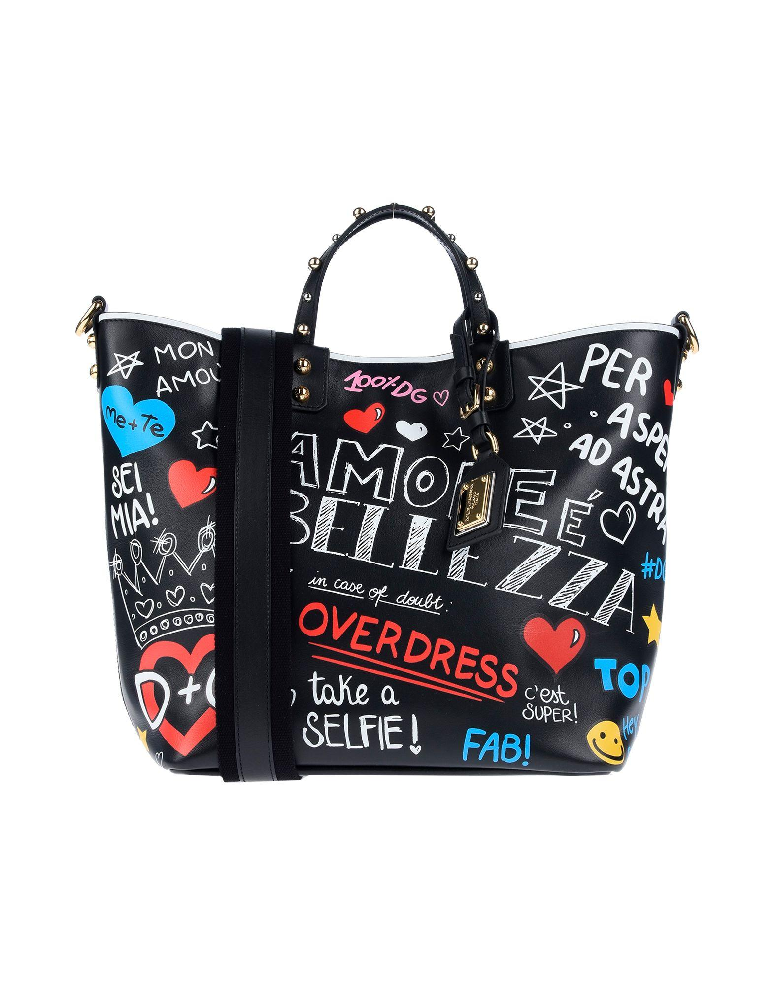 9e4ec2e8aeed Dolce   Gabbana Handbag in Black - Save 46% - Lyst