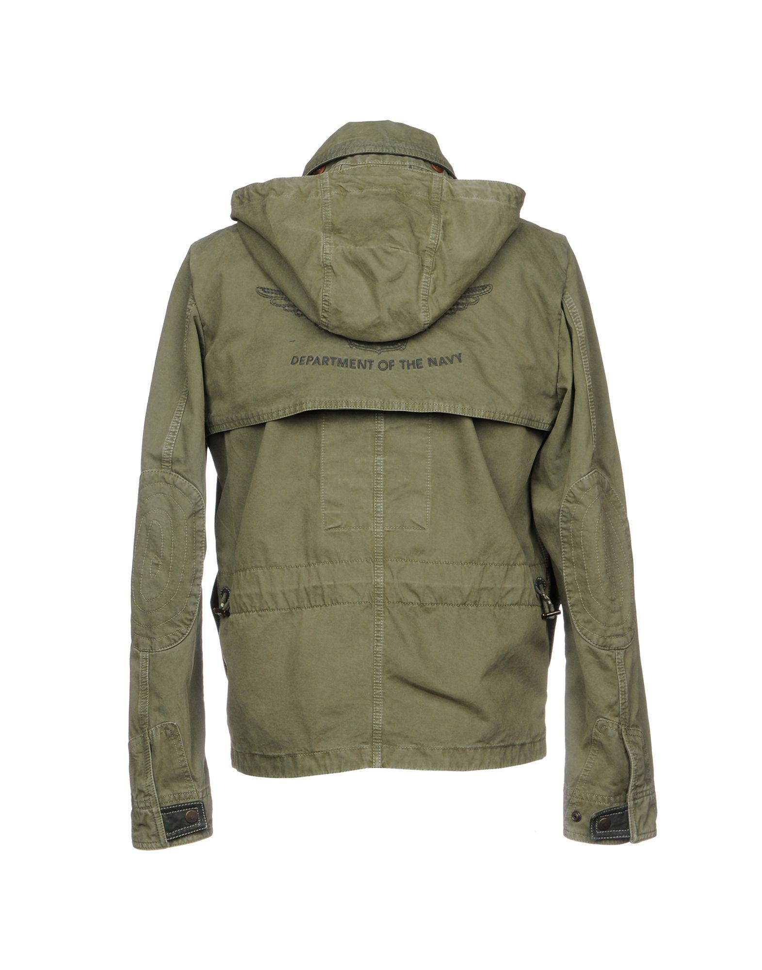 Historic Leather Jacket in Military Green (Green) for Men