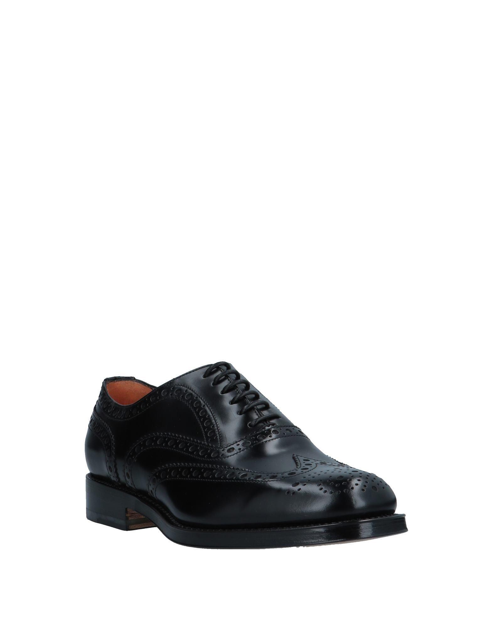 Zapatos de cordones Santoni de Cuero de color Negro para hombre