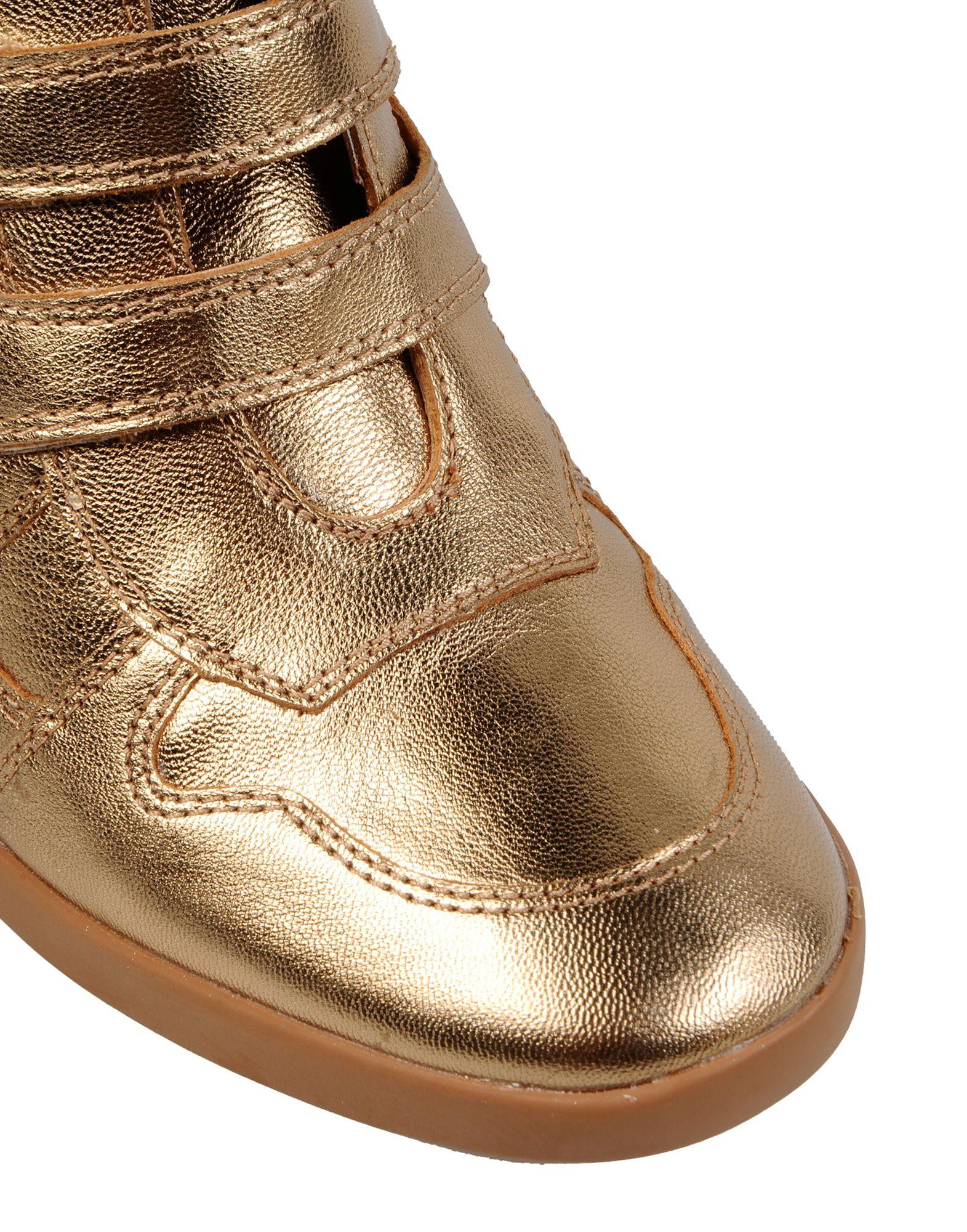 Carlo Pazolini Leather High-tops & Sneakers in Gold (Metallic)