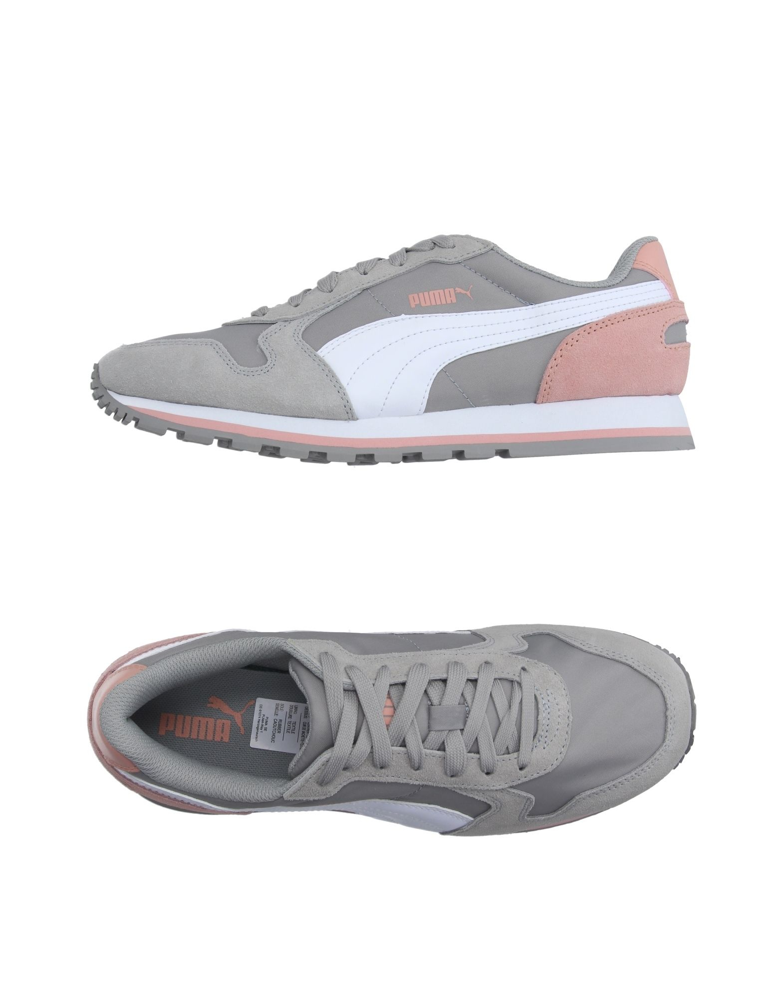 Nike Gray Low Top Shoes With Red Laces