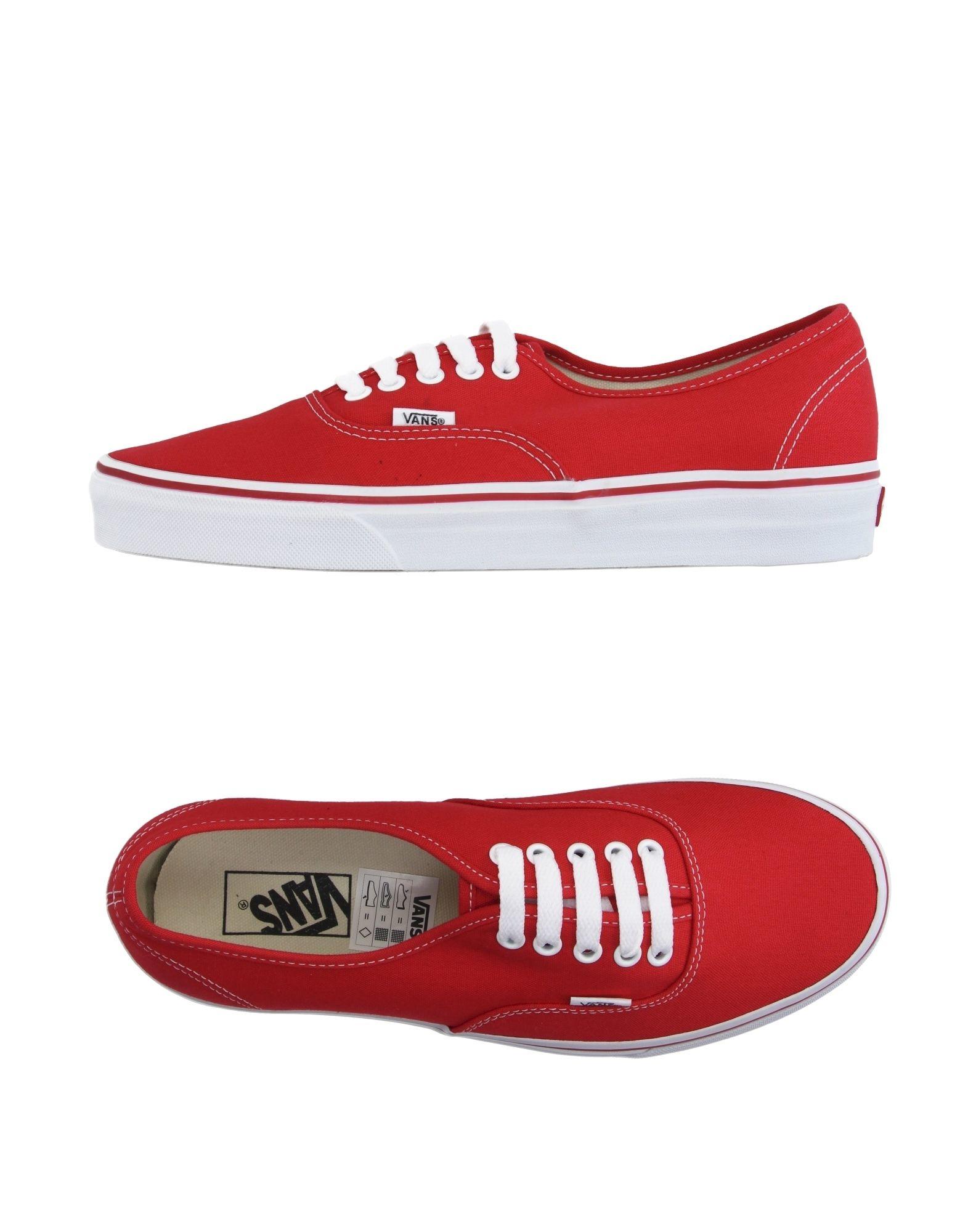 vans low tops sneakers in red lyst. Black Bedroom Furniture Sets. Home Design Ideas
