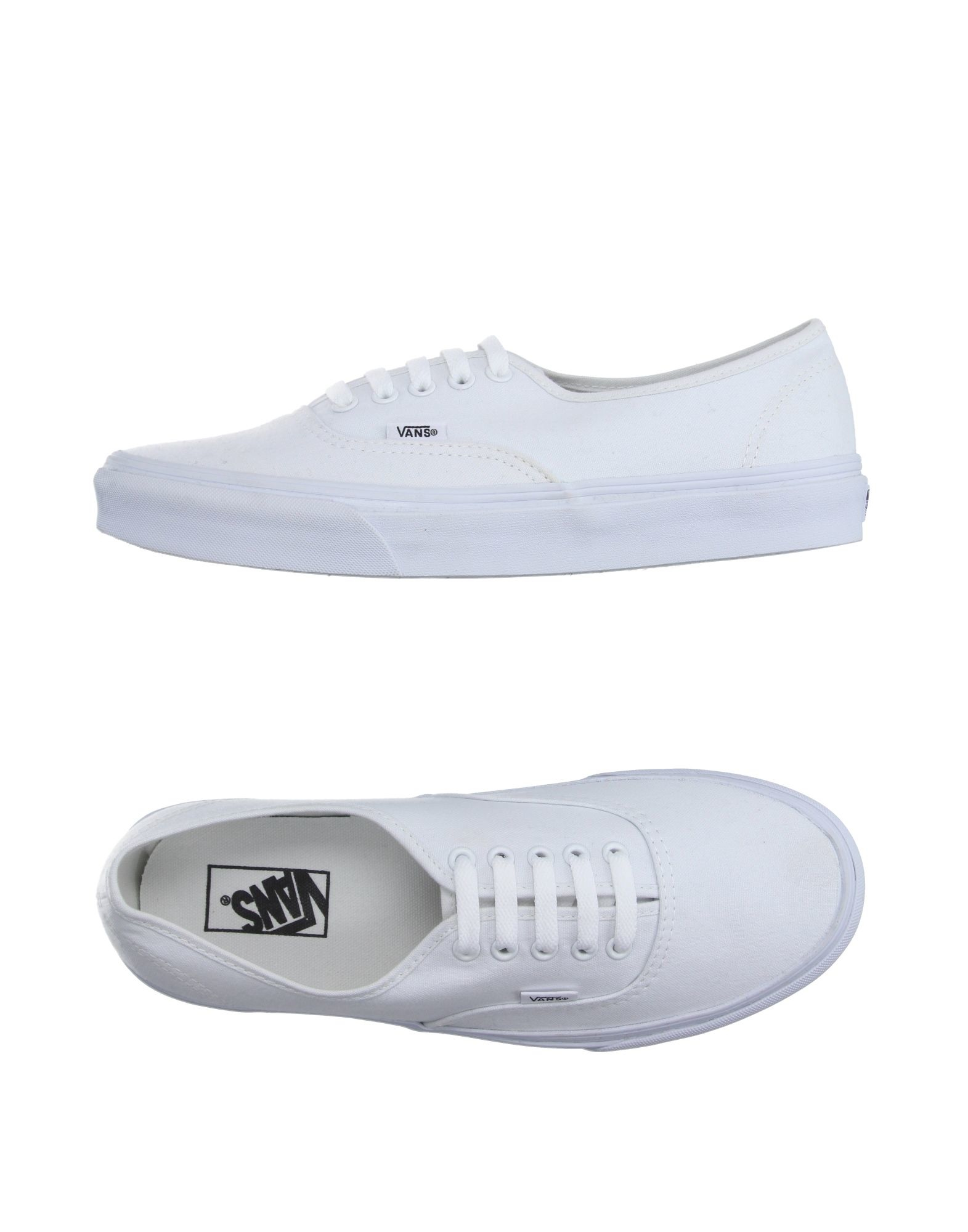 vans low tops trainers in white for men lyst. Black Bedroom Furniture Sets. Home Design Ideas
