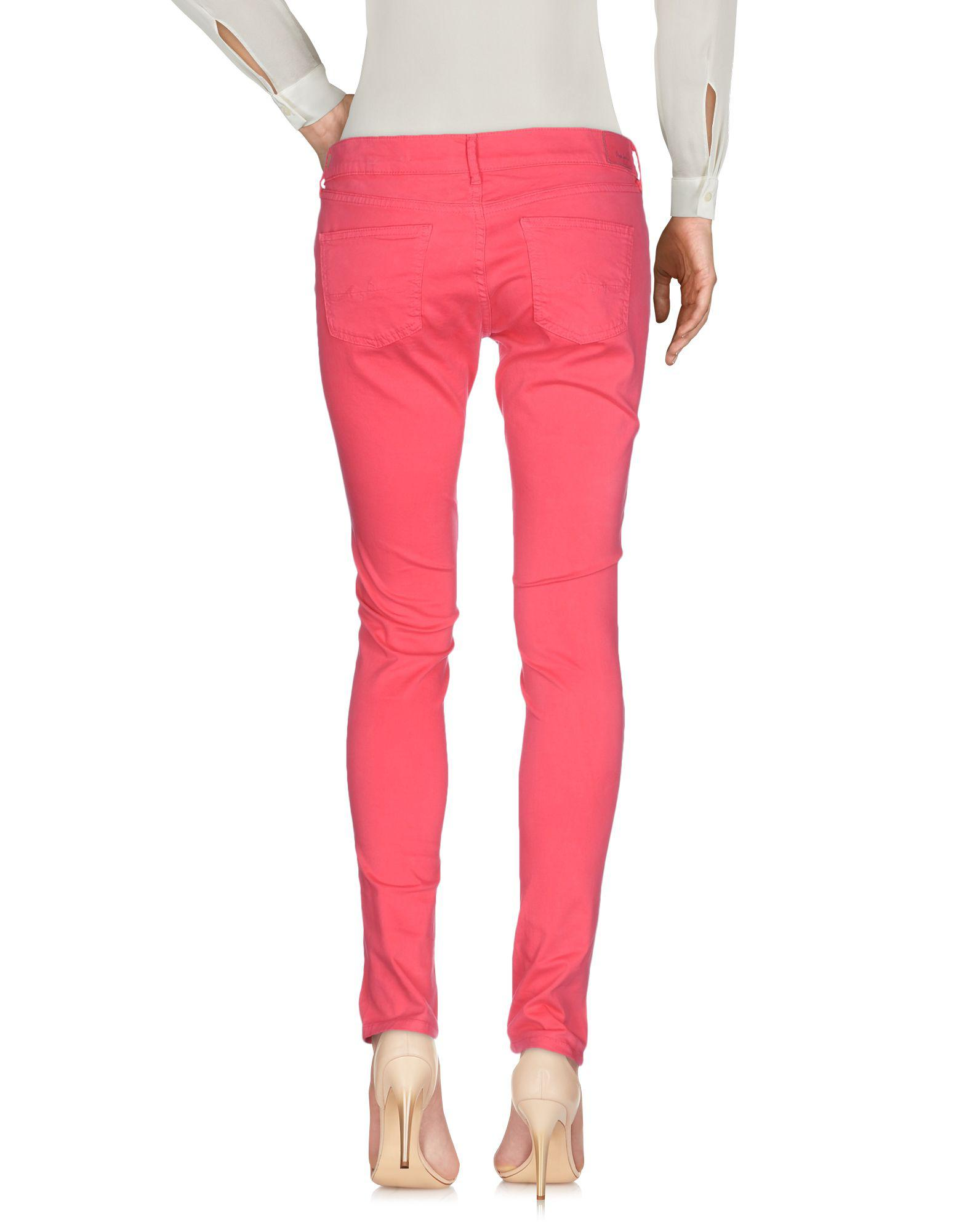 Pepe Jeans Cotton Casual Trouser in Coral (Pink)