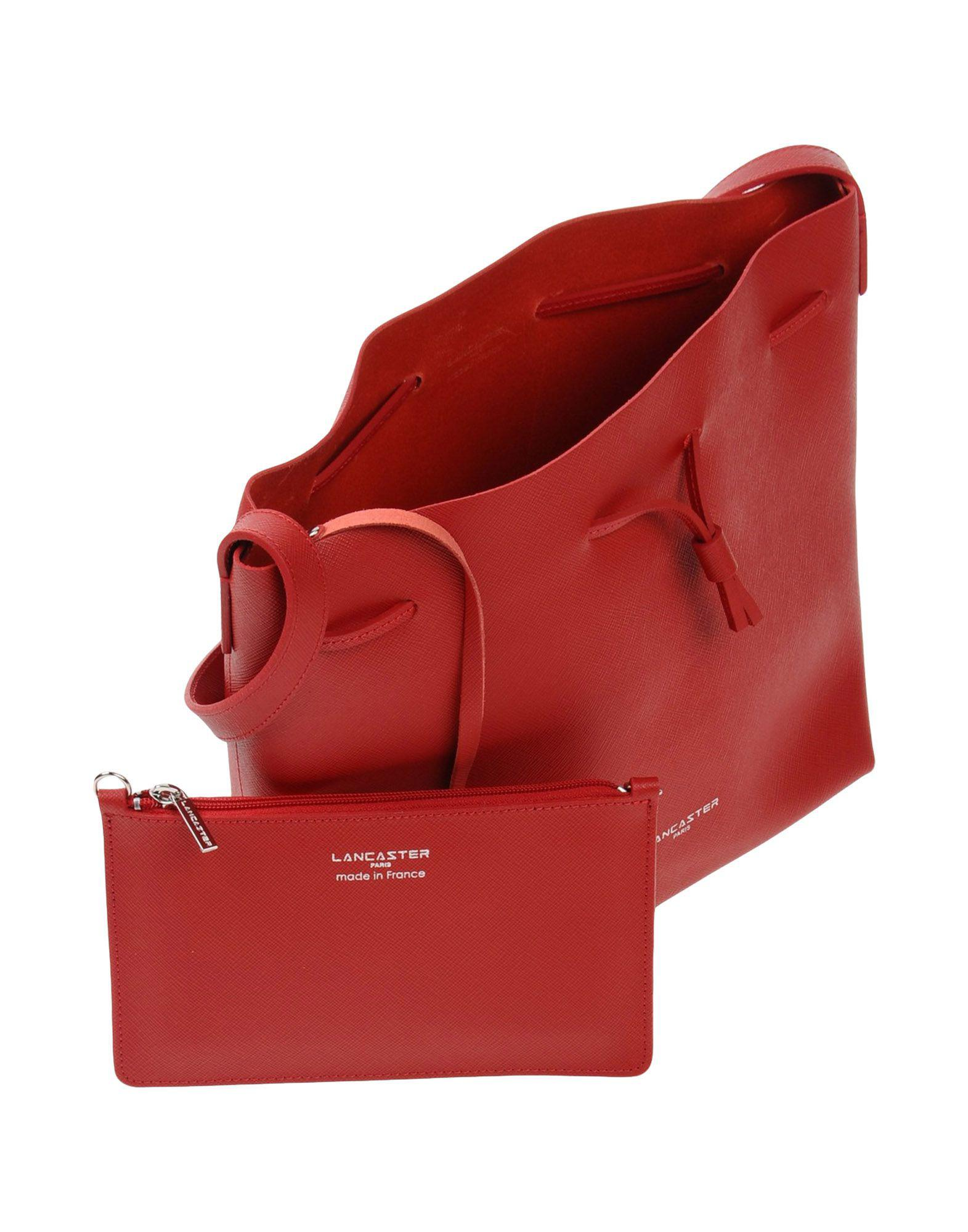 Lancaster Leather Cross-body Bag in Red
