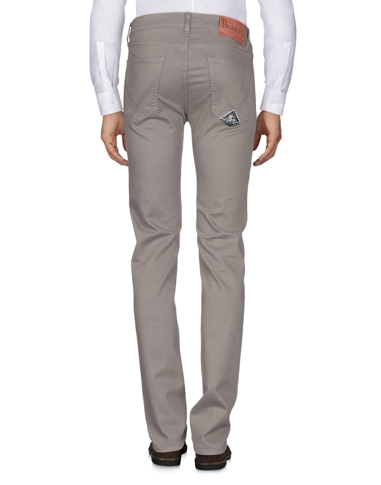 Roy Rogers Leather Casual Trouser in Khaki (Grey) for Men
