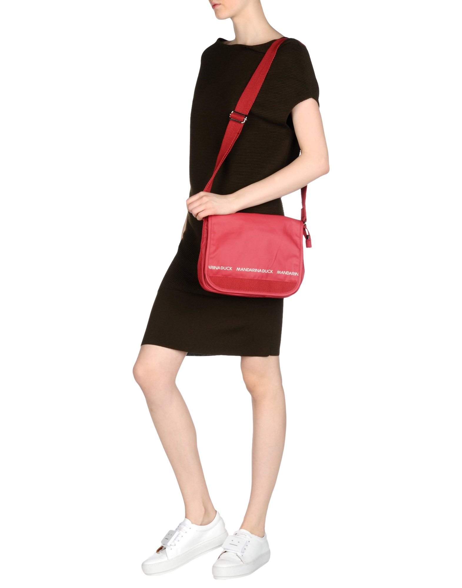 Mandarina Duck Canvas Cross-body Bag in Brick Red (Red)