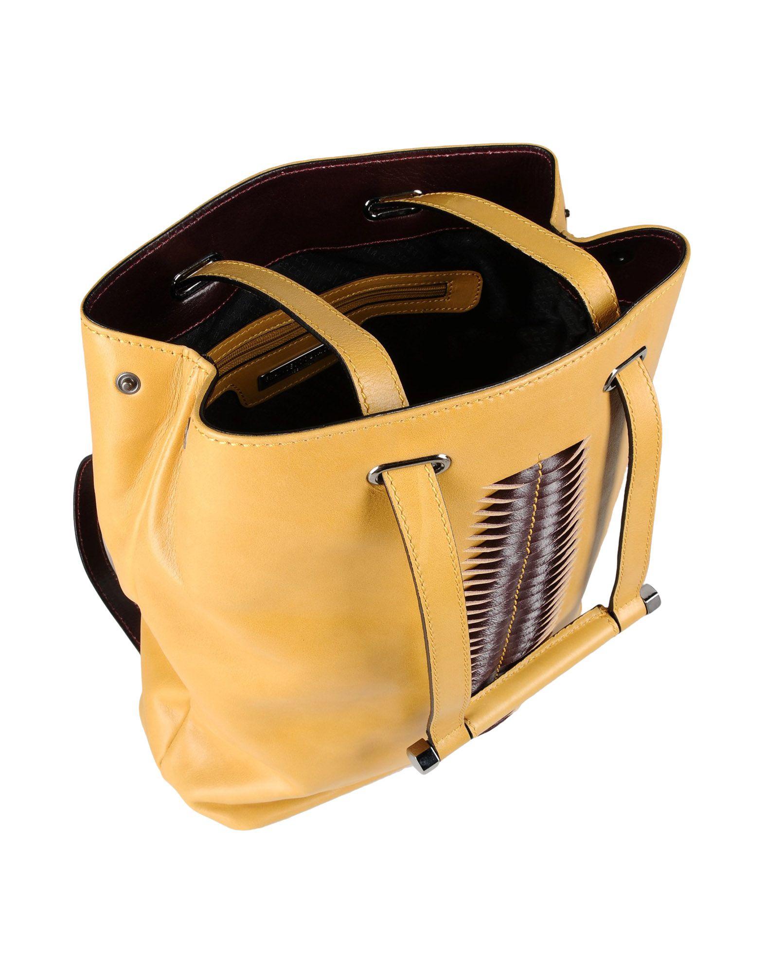 Francesco Biasia Leather Backpacks & Fanny Packs in Yellow
