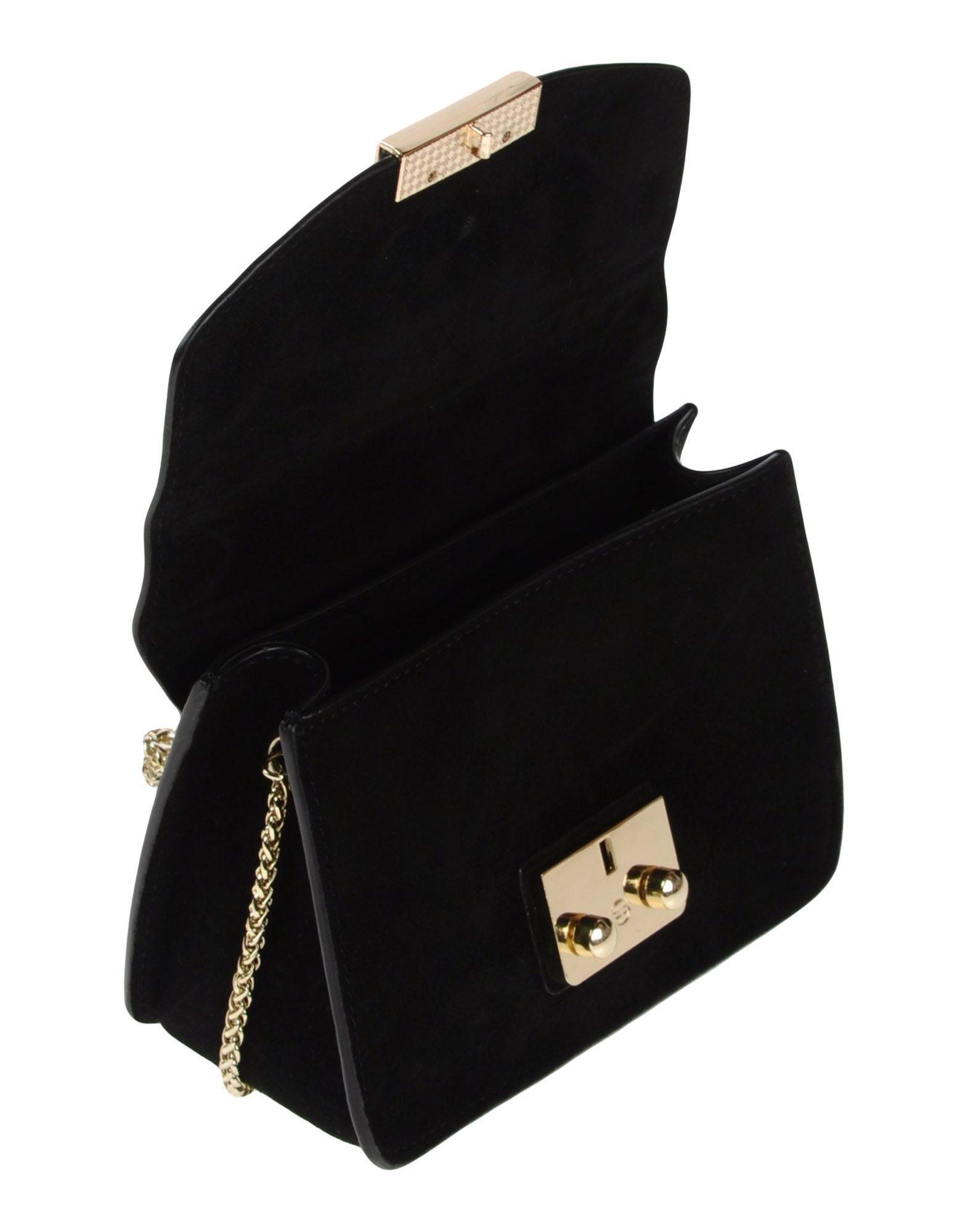 Lola Cruz Leather Cross-body Bag in Black