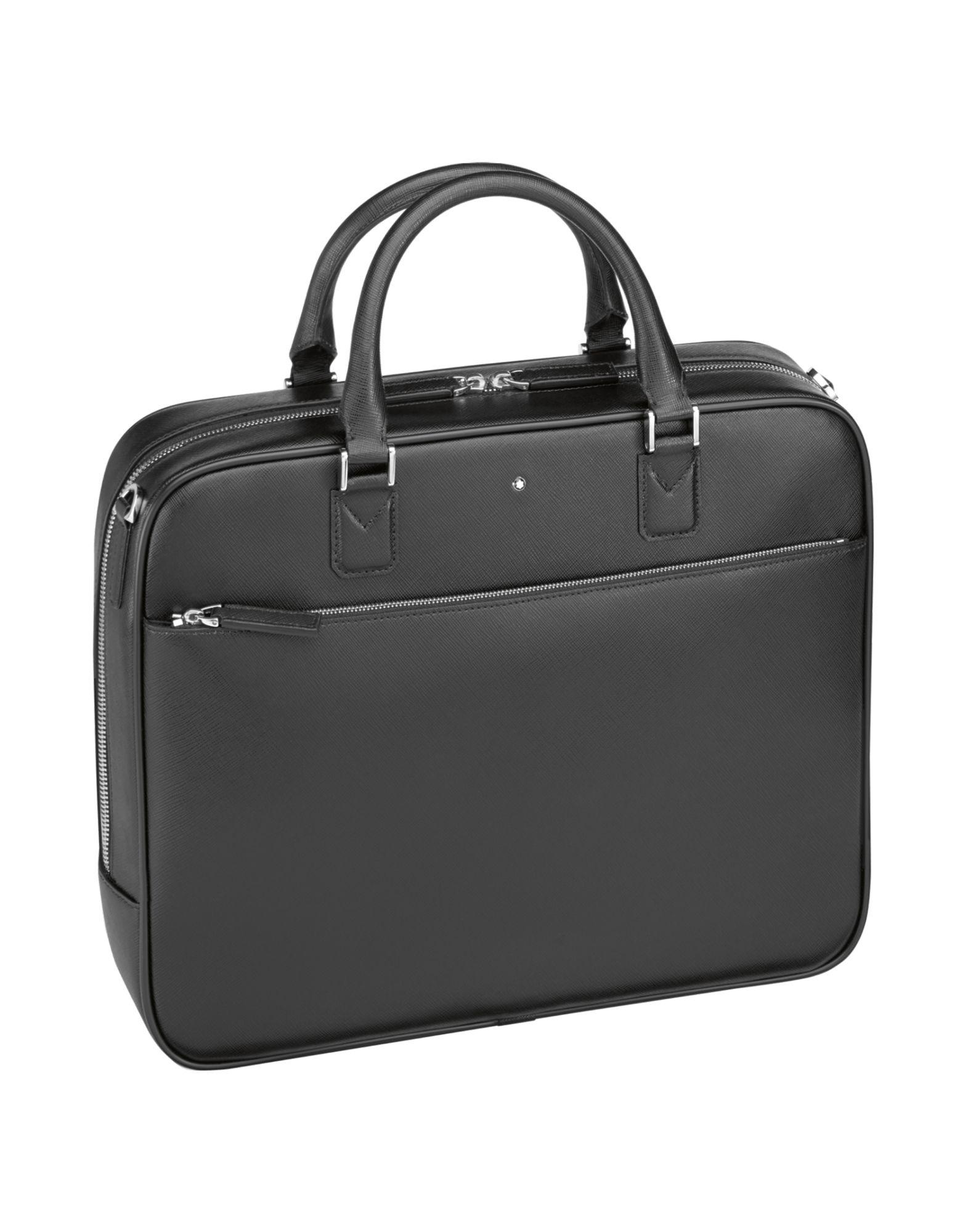 lyst montblanc work bags in black for men. Black Bedroom Furniture Sets. Home Design Ideas