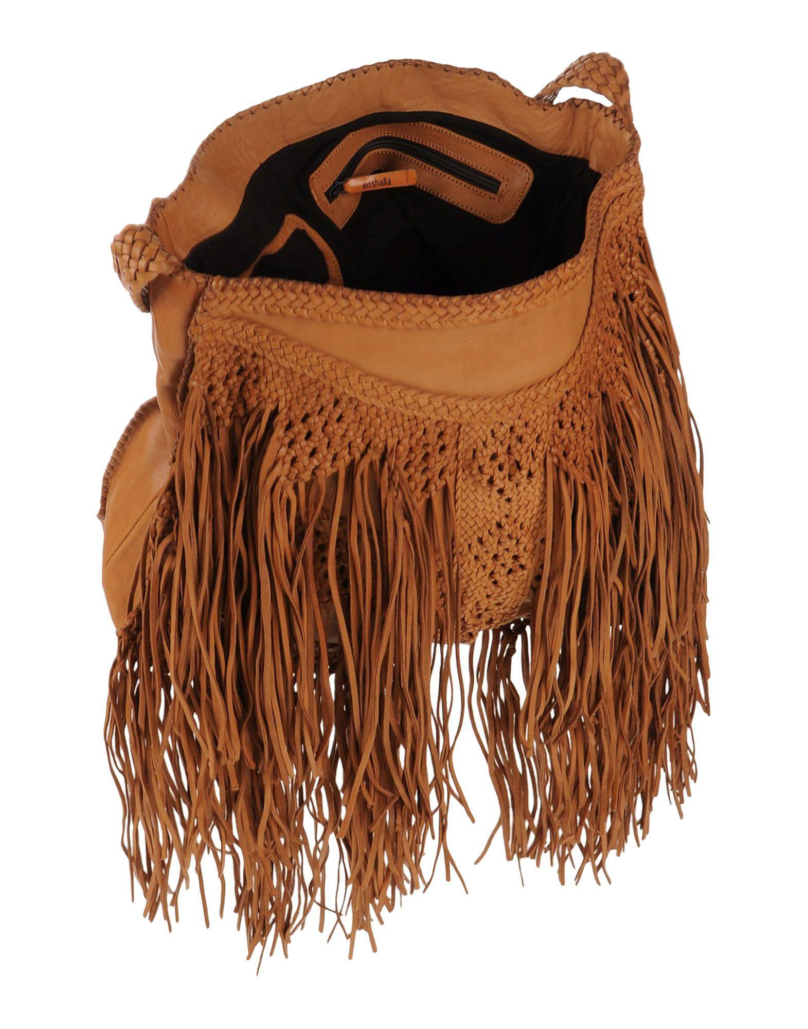 En Shalla Leather Cross-body Bag in Tan (Brown)