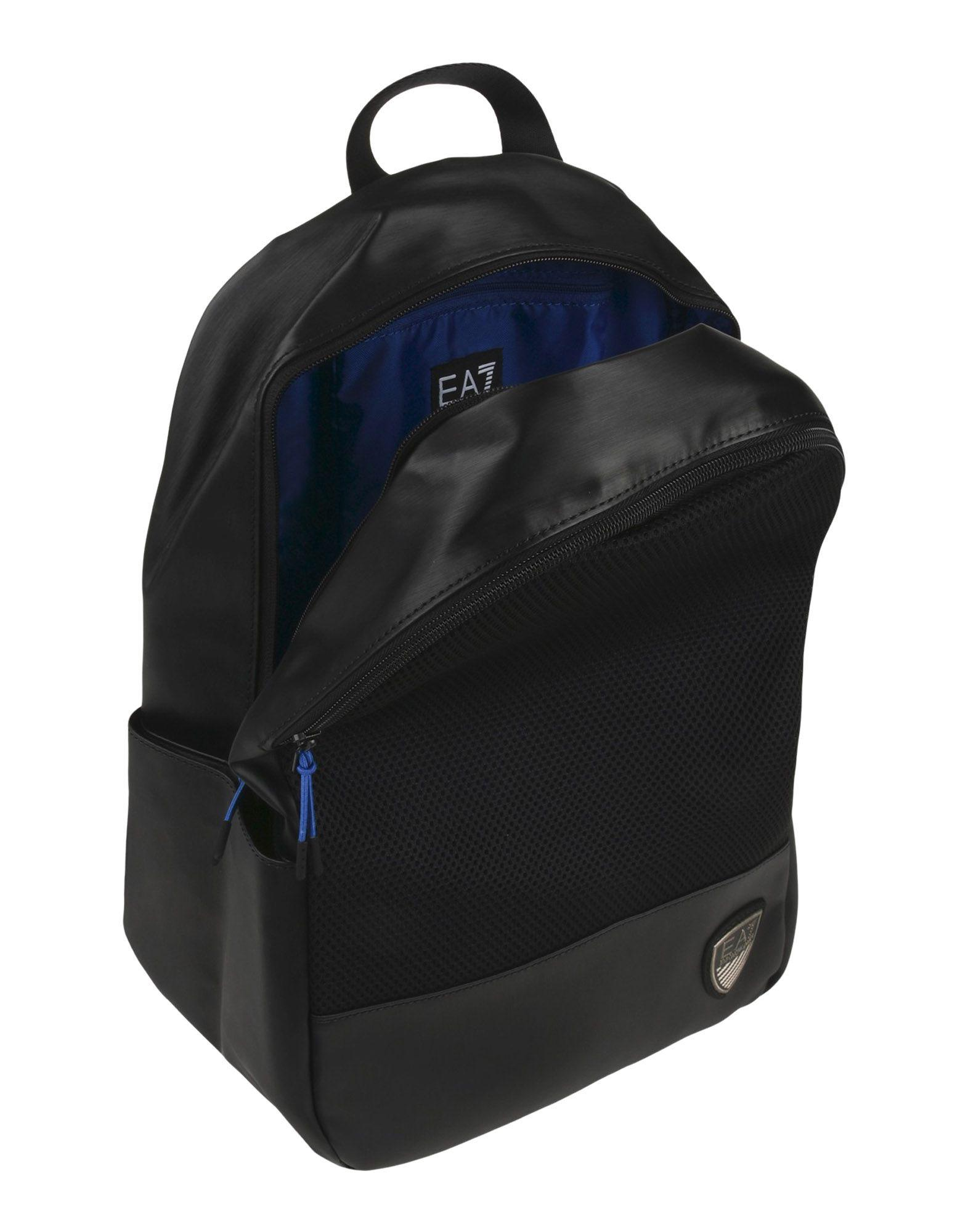 EA7 Synthetic Backpacks & Fanny Packs in Black