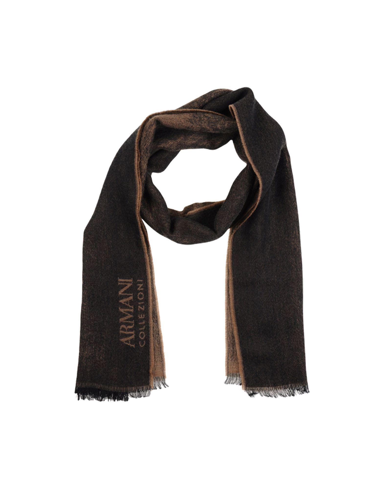 armani oblong scarf in black lyst
