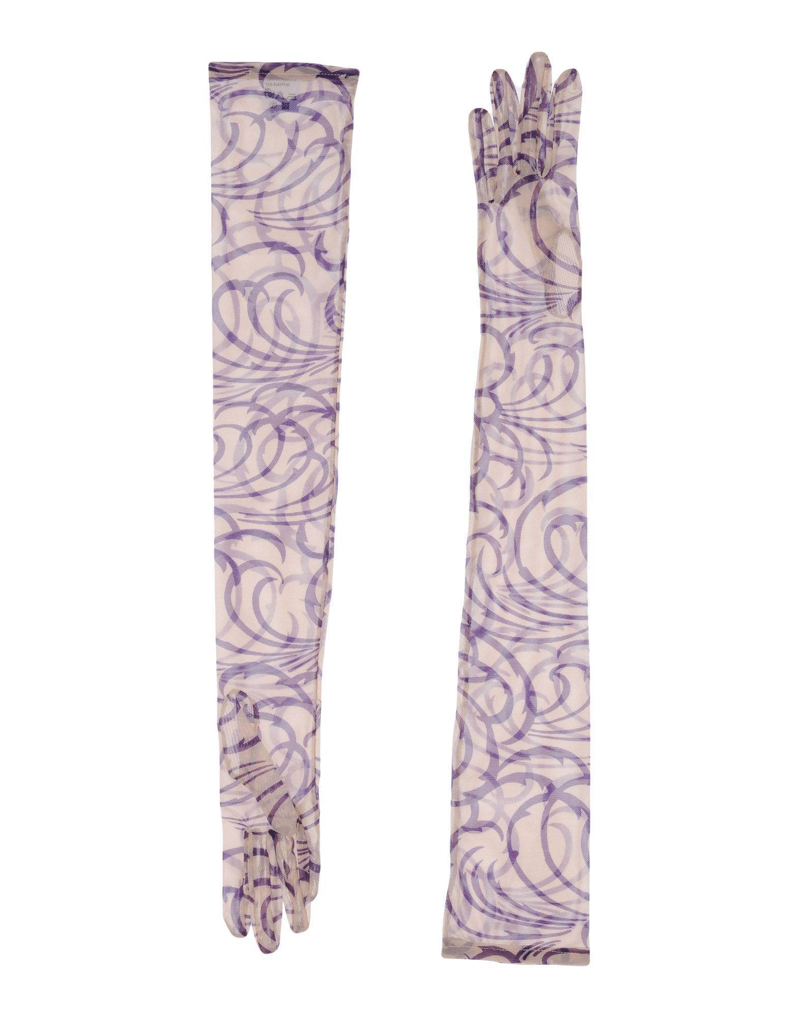 Dries van noten Gloves in Purple