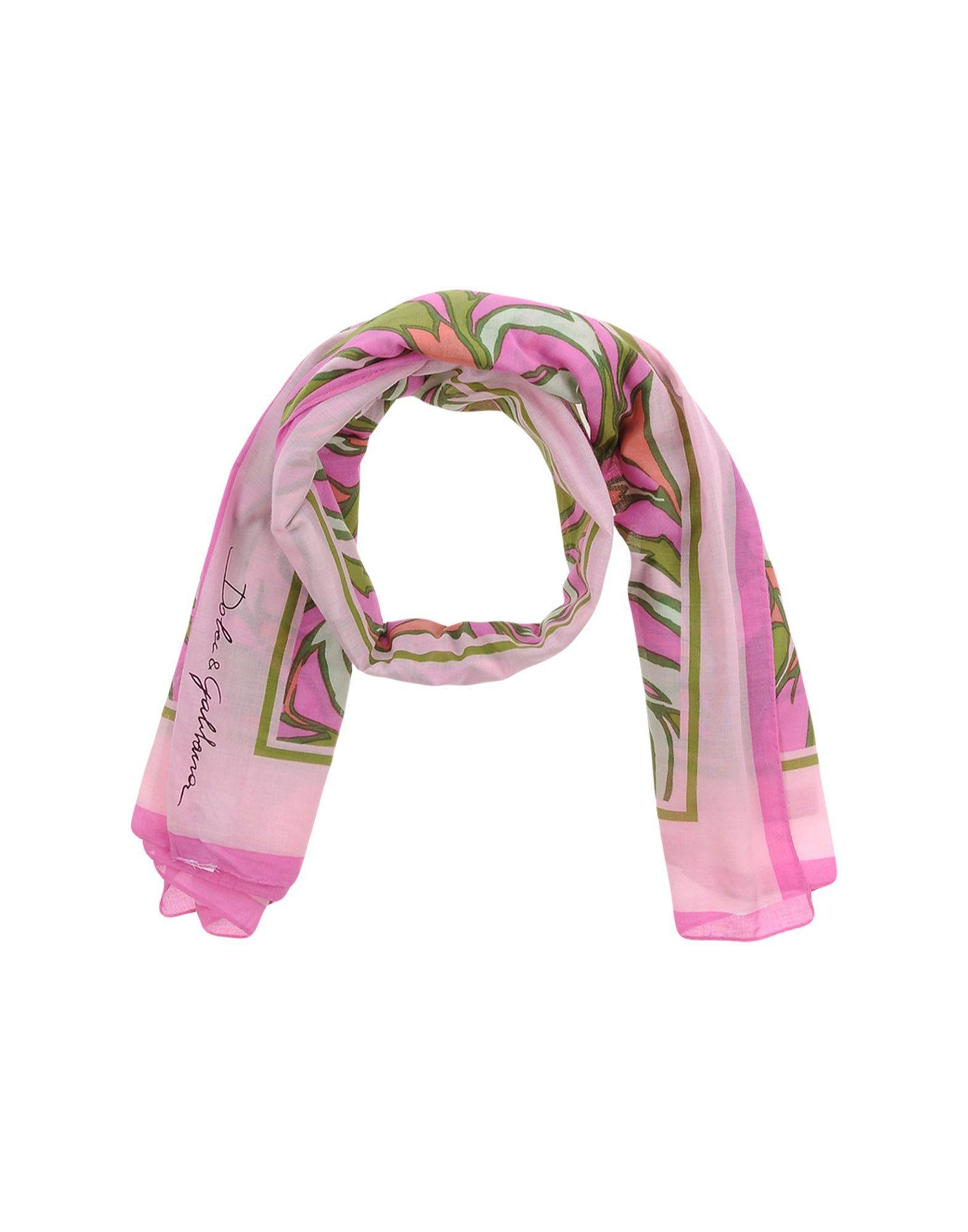 Dolce Amp Gabbana Scarf In Pink Lyst
