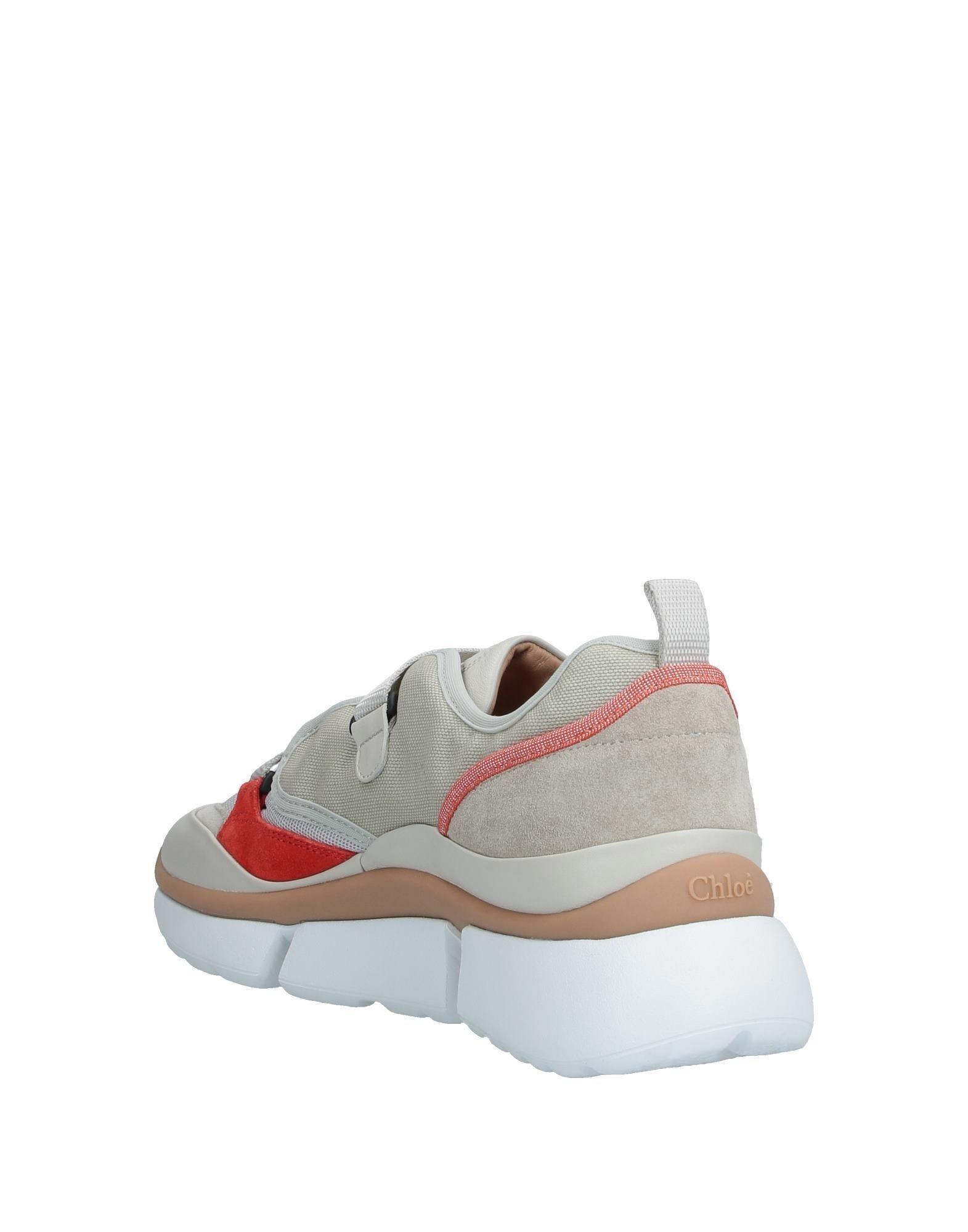 Sneakers & Deportivas Chloé de Cuero de color Gris