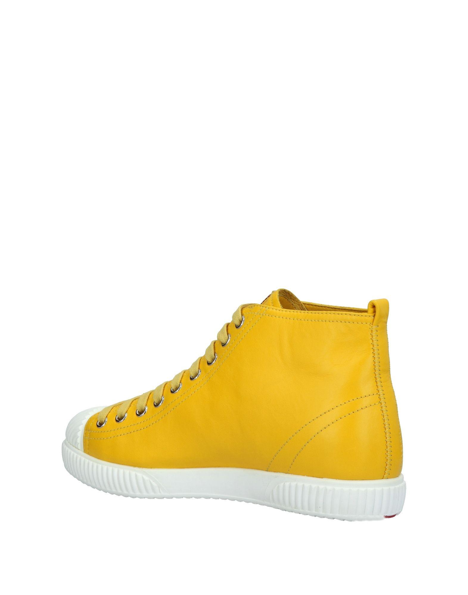 Prada Linea Rossa Leather High-tops & Sneakers in Yellow