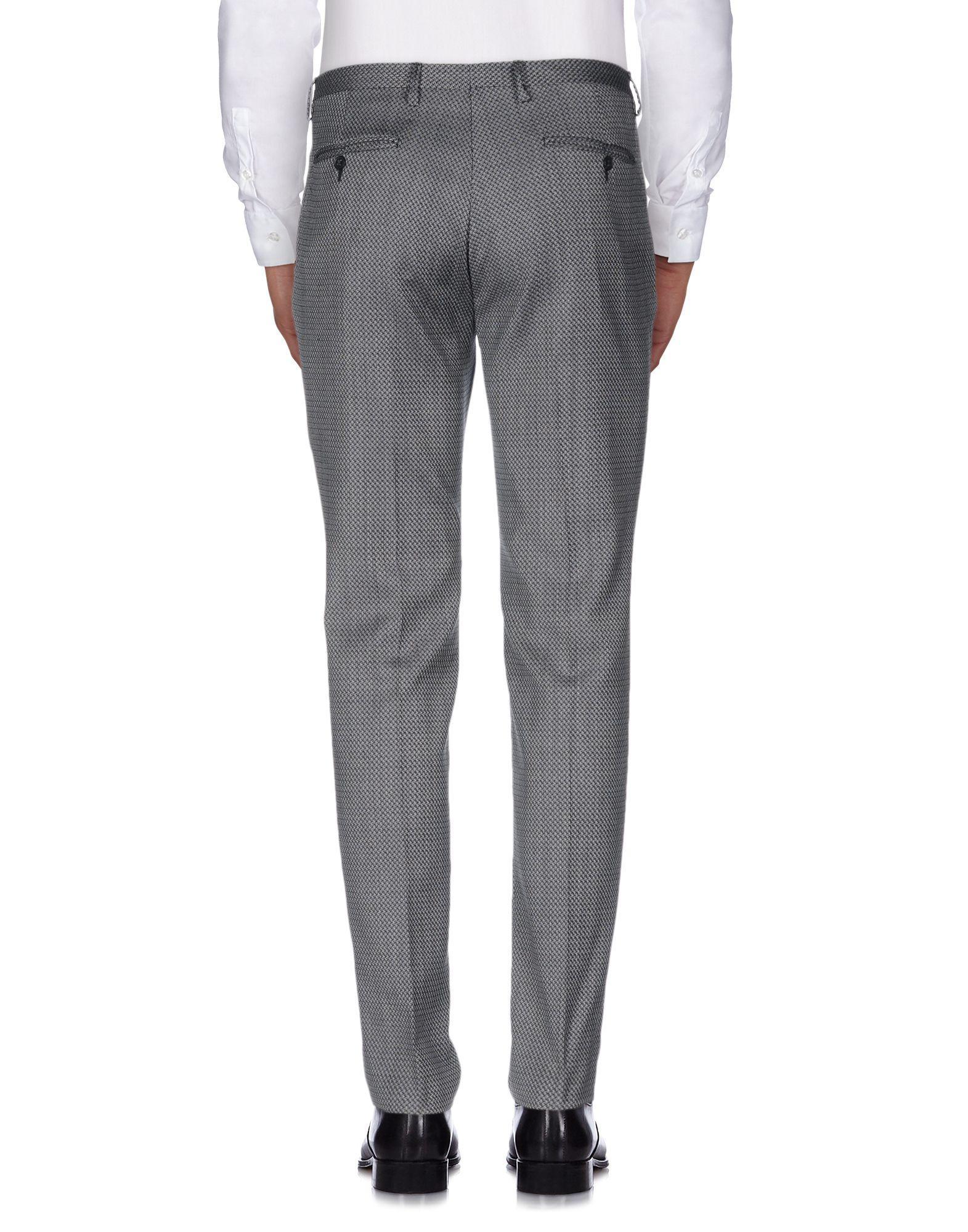 Brian Dales Wool Casual Trouser in Black (Grey) for Men