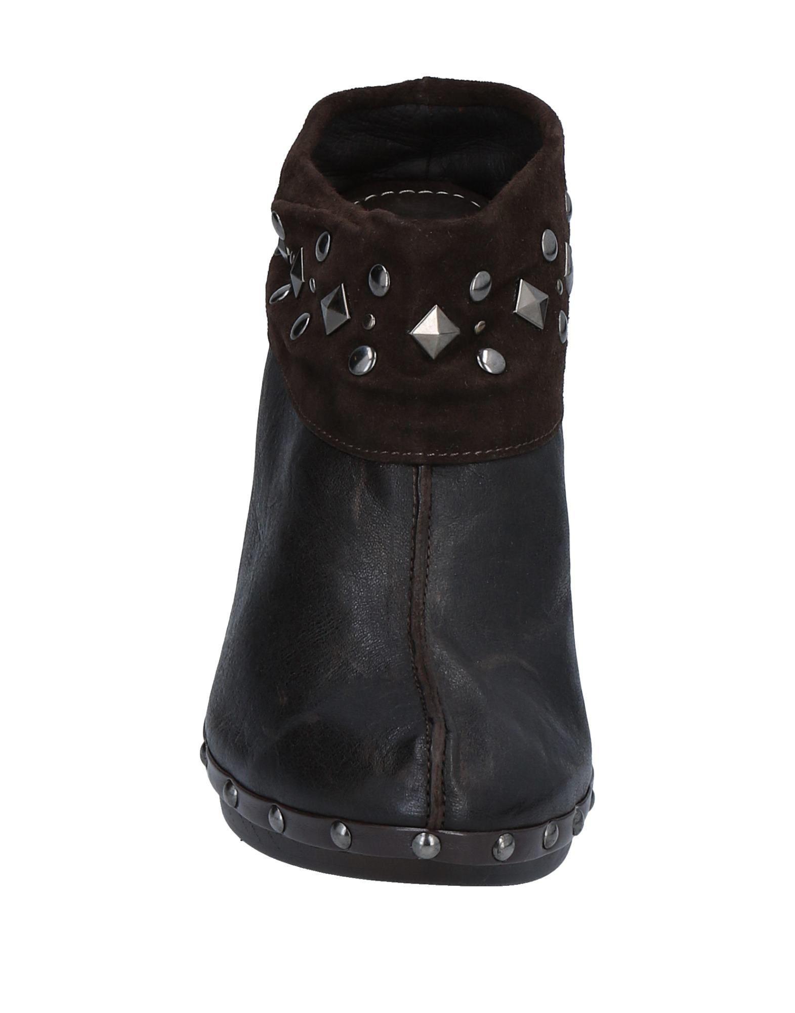 Materia Prima By Goffredo Fantini Leather Bootie in Dark Brown (Brown)
